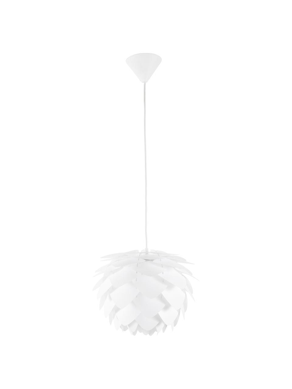Lampada a sospensione Silvia, Paralume: polipropilene, Baldacchino: materiale sintetico, Bianco, Ø 50 x Alt. 41 cm