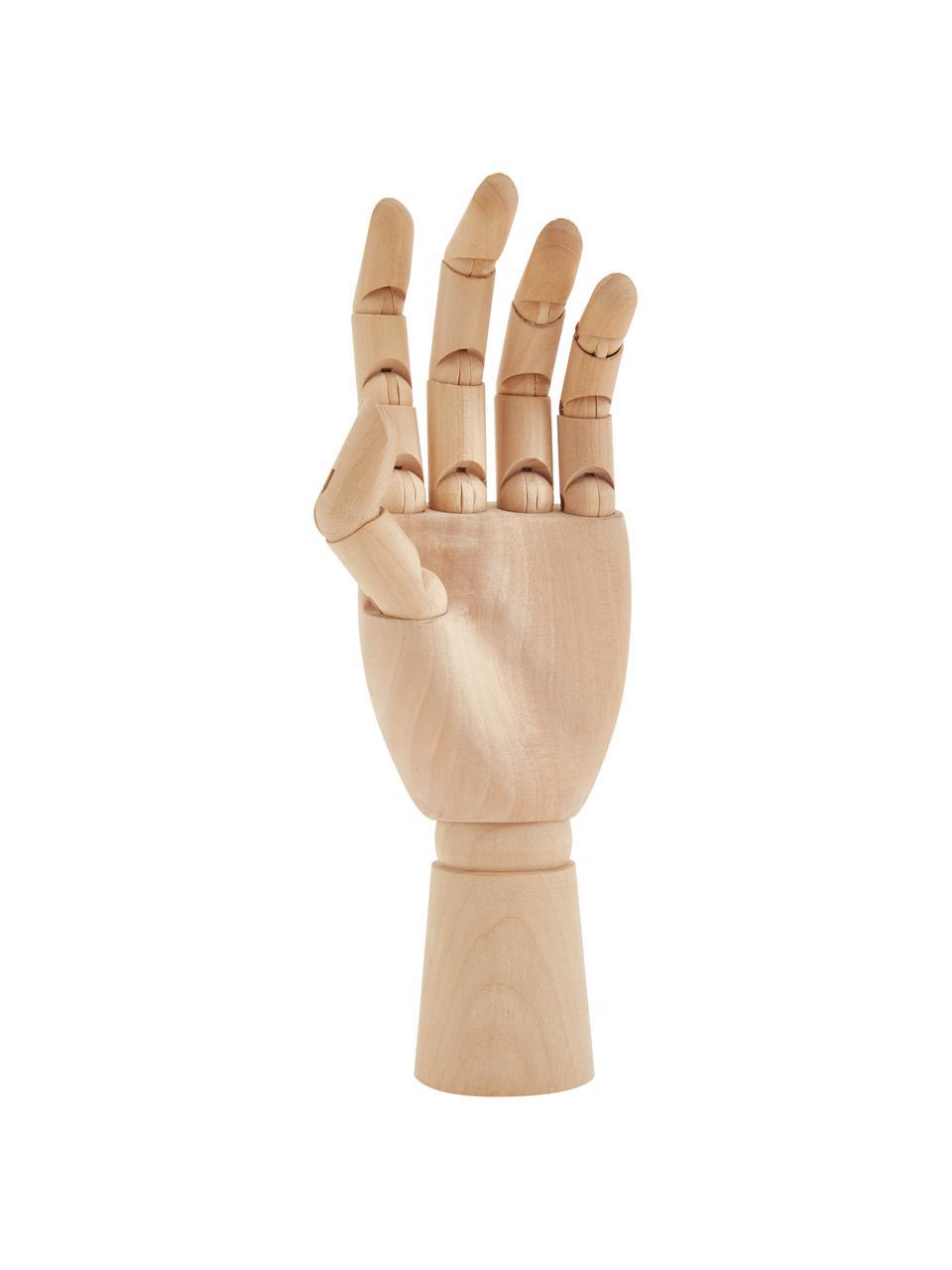 Decoratief object Hand, Grasboom, Lichtbruin, 7 x 25 cm