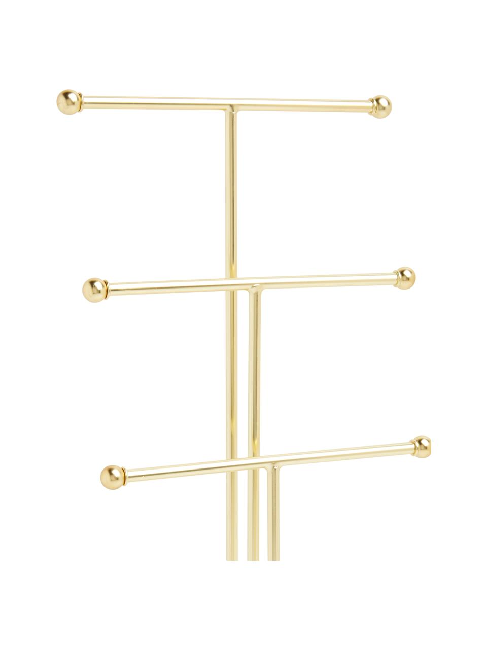 Porta joyas Trigem, Metal, pintado, Blanco, latón, An 23 x Al 48 cm