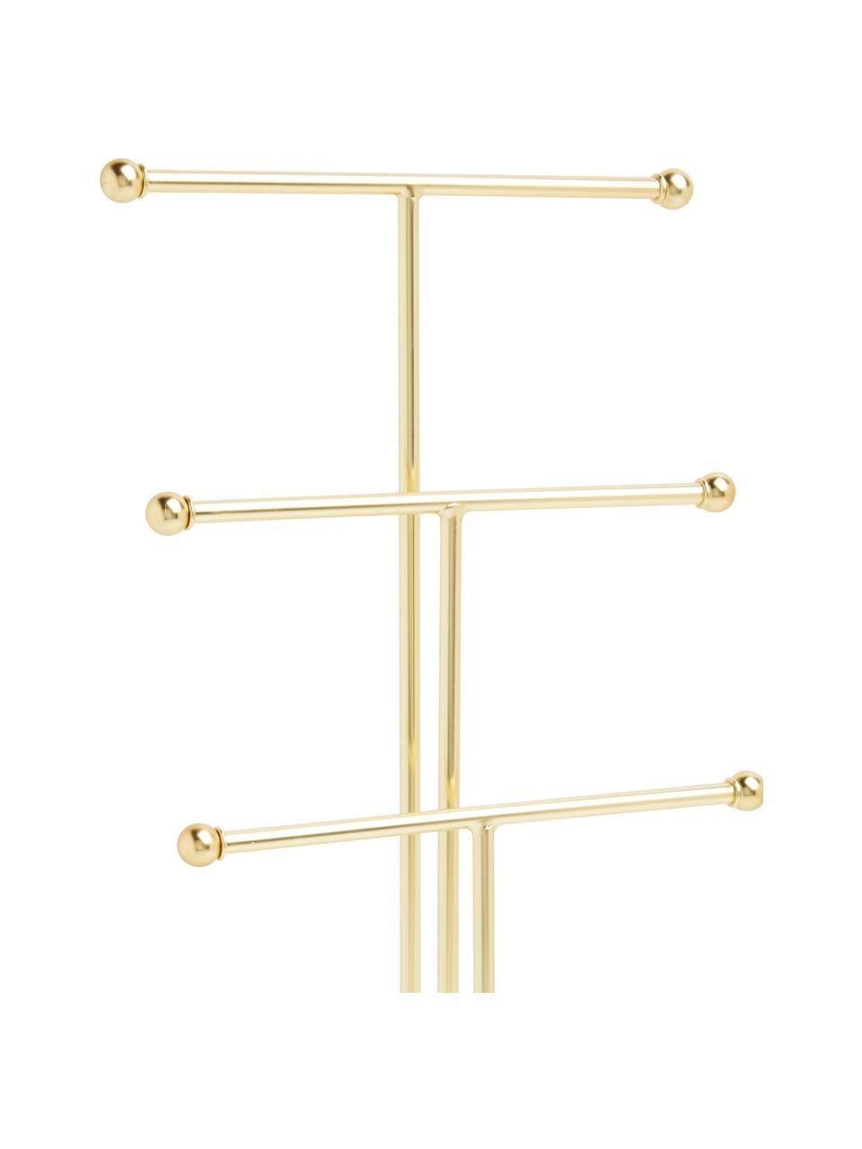Stojak na biżuterię Trigem, Metal lakierowany, Biały, mosiężny, S 23 x W 48 cm