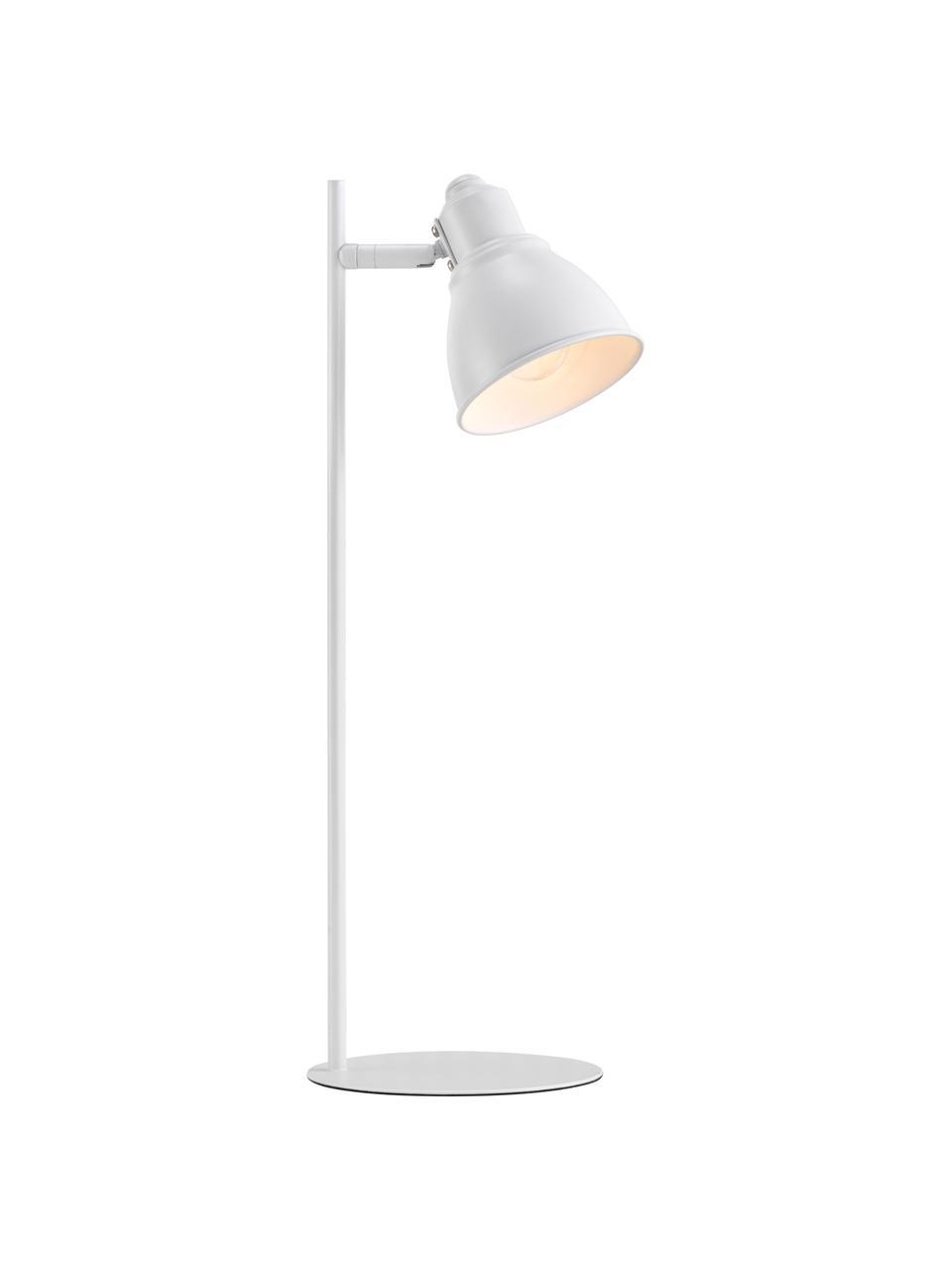 Schreibtischlampe Mercer in Weiß, Lampenschirm: Metall, beschichtet, Lampenfuß: Metall, beschichtet, Weiß, Ø 15 x H 45 cm
