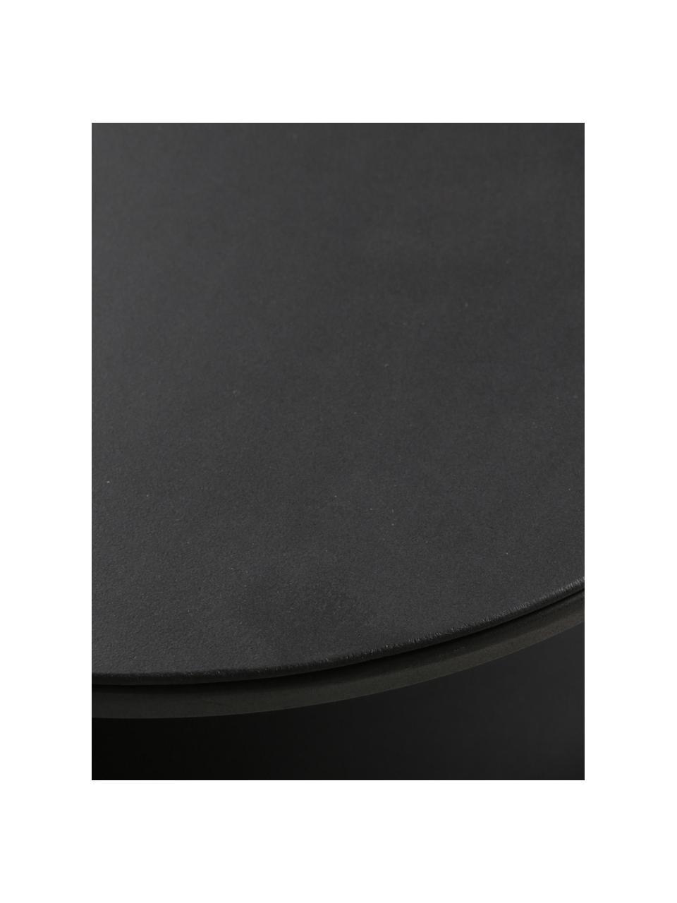 Metall-Couchtisch Grayson in Schwarz, Metall, beschichtet, Schwarz, 120 x 60 cm