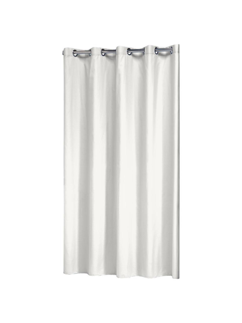 Duschvorhang Coloris aus Baumwoll-Mix, Gebrochenes Weiß, 180 x 200 cm