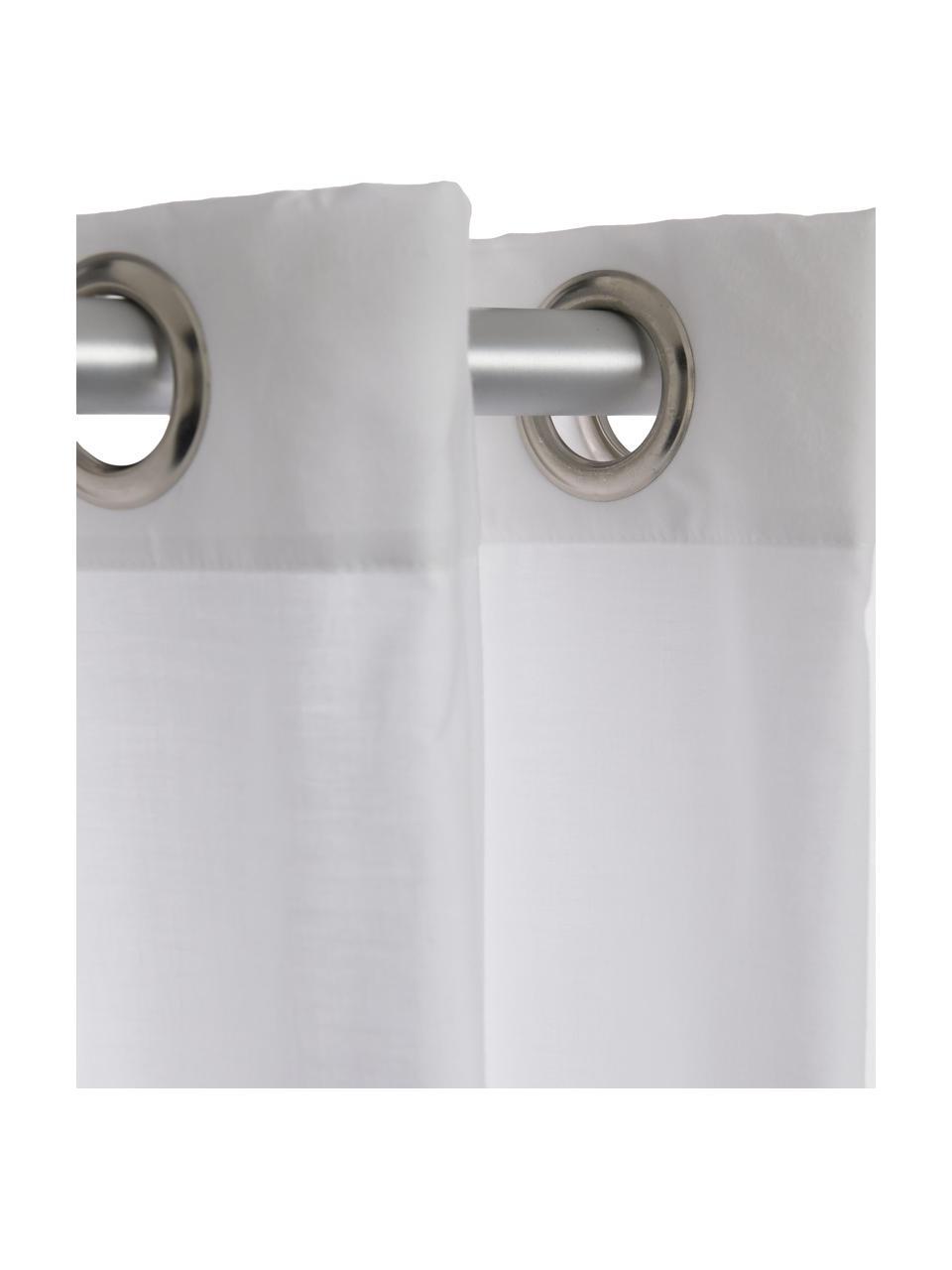 Rideau de douche en coton mélangé Coloris, Blanc cassé