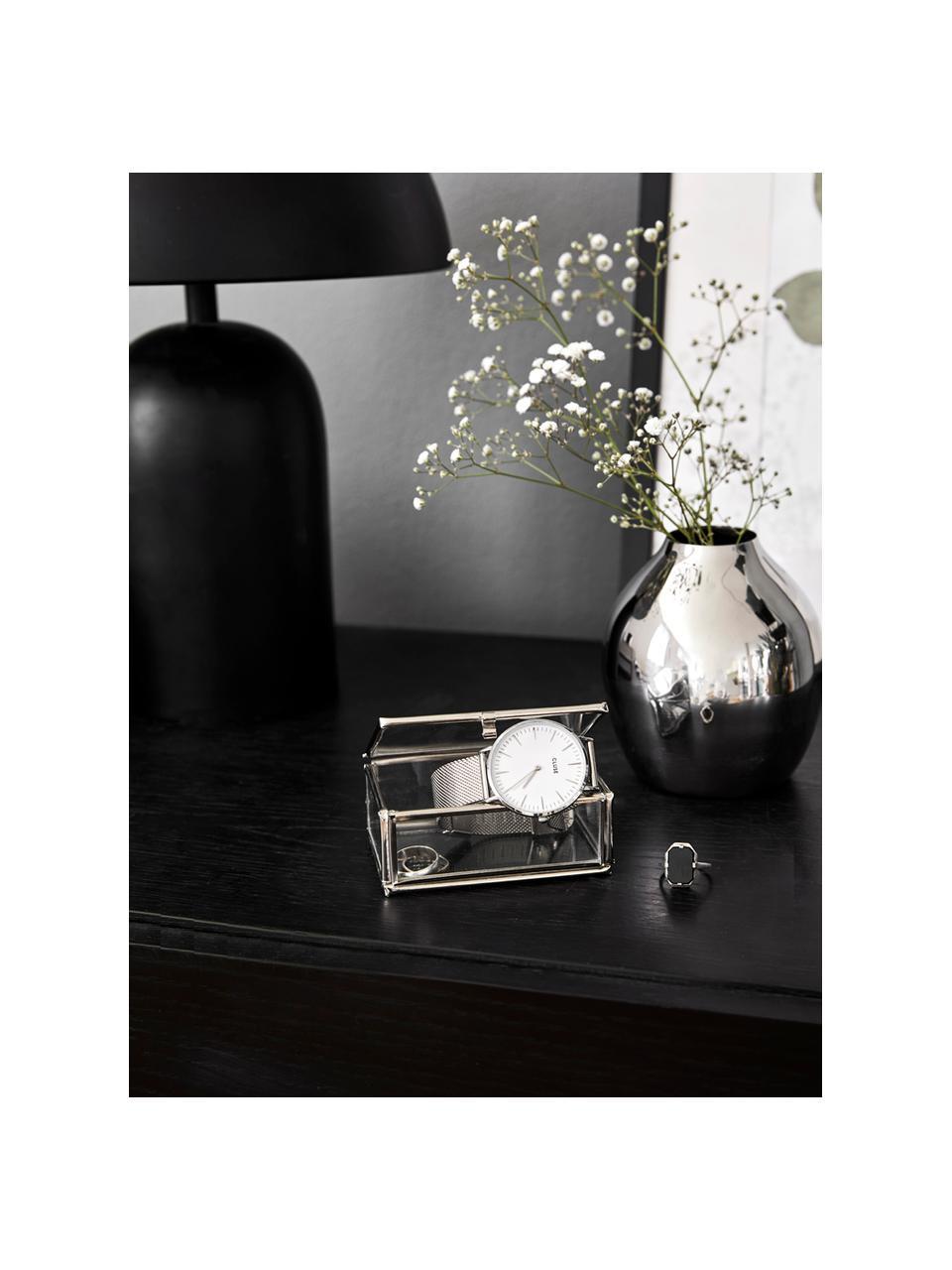 Mały wazon z metalu Gunnebo, Metal lakierowany, Metal, Ø 8 x W 10 cm