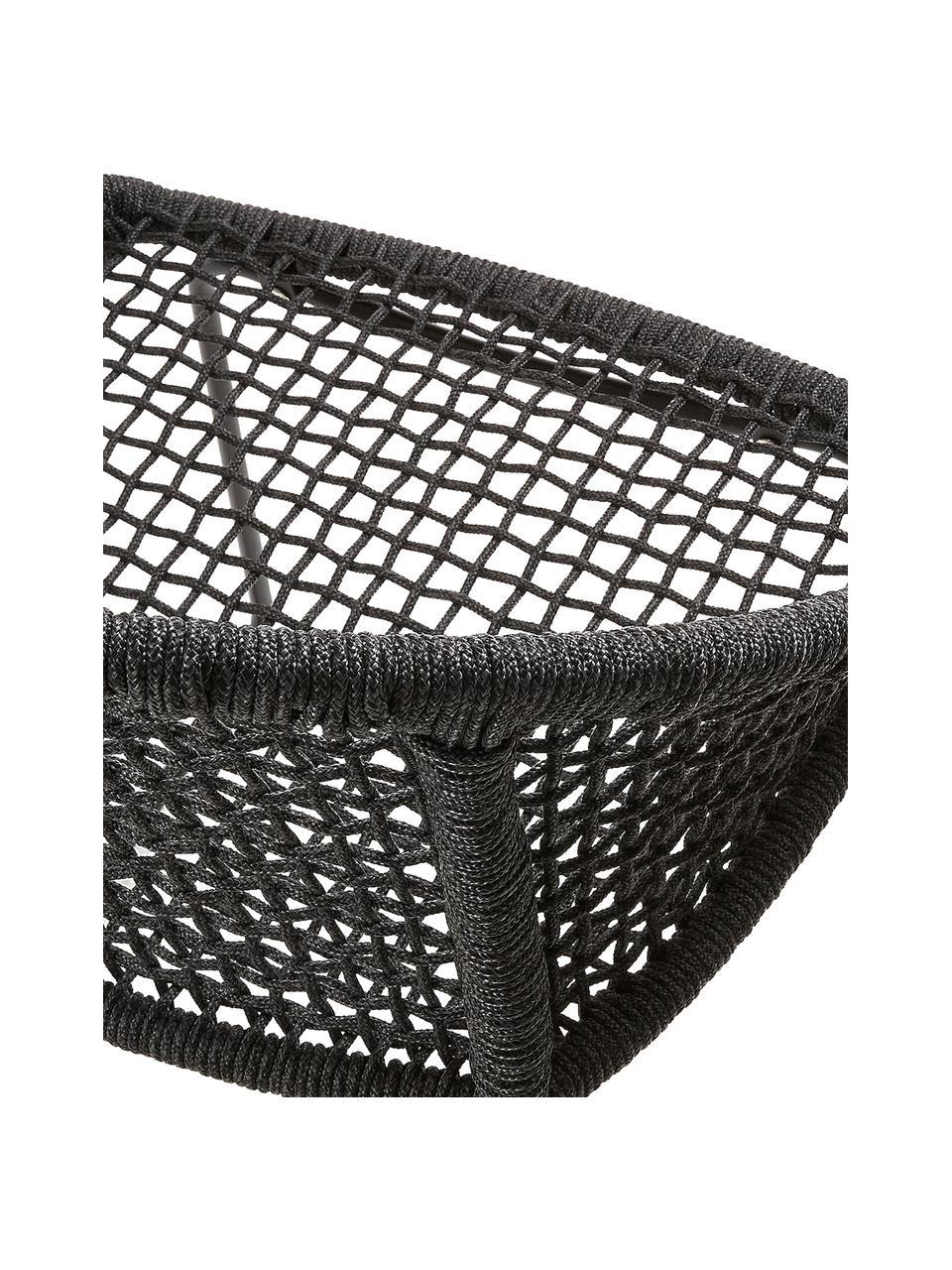 Garten-Armlehnstühle Sania, 2 Stück, Sitzschale: Polyester, UV-stabilisier, Beine: Metall, pulverbeschichtet, Dunkelgrau, B 65 x T 58 cm