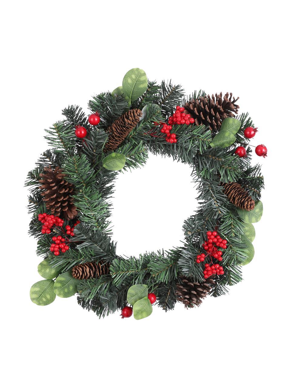 Ghirlanda natalizia artificiale Matiz, Materiale sintetico, Verde, rosso, marrone, Ø 50 cm