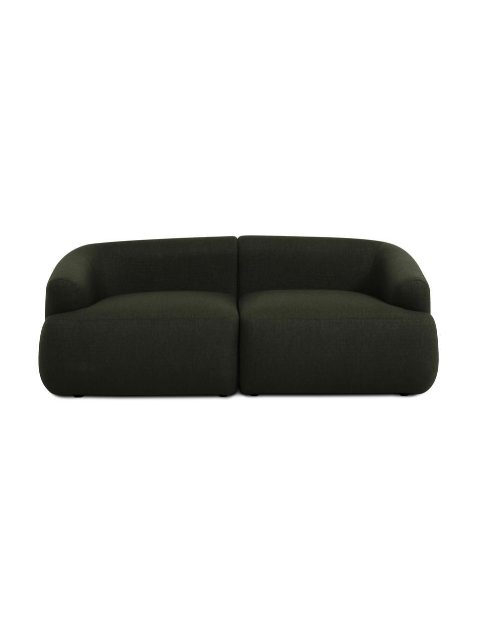 Sofa modułowa Sofia (2-osobowa), Tapicerka: 100% polipropylen Dzięki , Stelaż: lite drewno sosnowe, płyt, Nogi: tworzywo sztuczne, Zielony, S 192 x G 95 cm