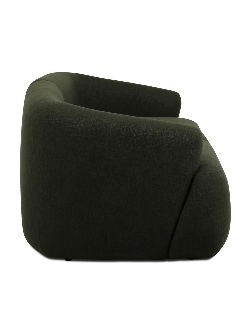 Modulares Sofa Sofia (2-Sitzer) in Grün, Bezug: 100% Polypropylen Der hoc, Gestell: Massives Kiefernholz, Spa, Füße: Kunststoff, Webstoff Grün, B 192 x T 95 cm