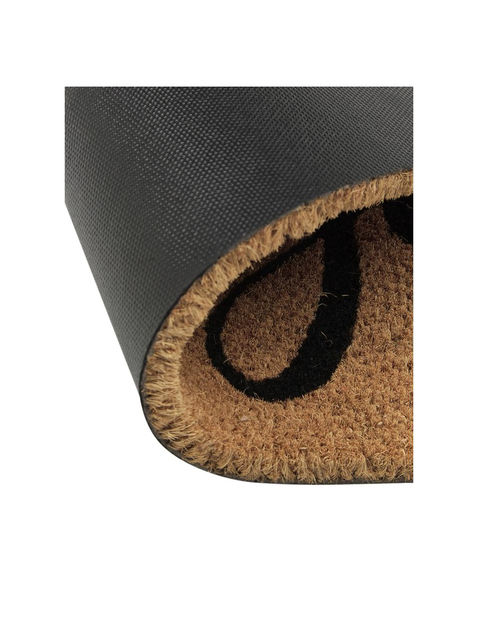 Fußmatte Hereinspaziert, Unterseite: Vinyl, Braun, Schwarz, 45 x 75 cm