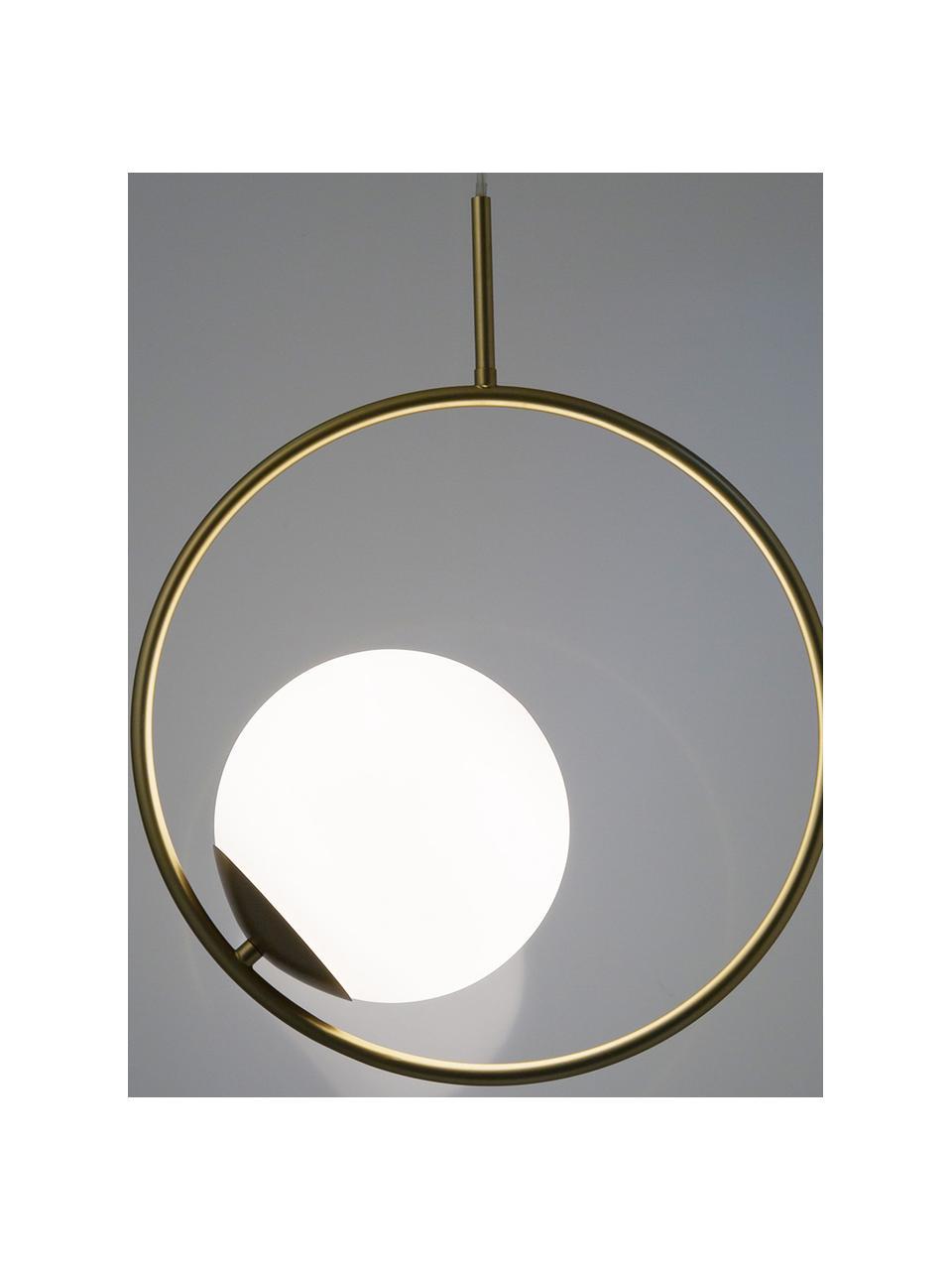 Suspension moderne dorée Chloe, Blanc, laiton