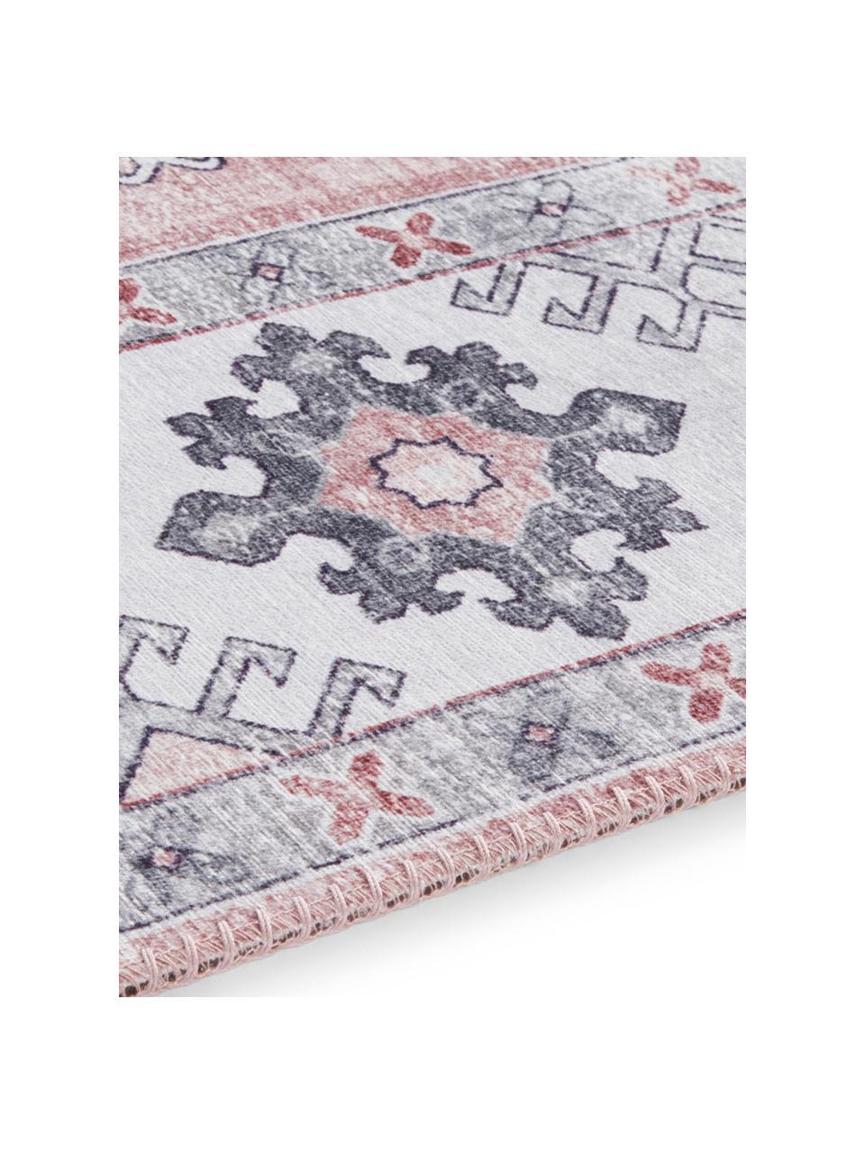 Teppich Gratia im Vintage Style, 100% Polyester, Altrosa, Grau, B 200 x L 290 cm (Größe L)