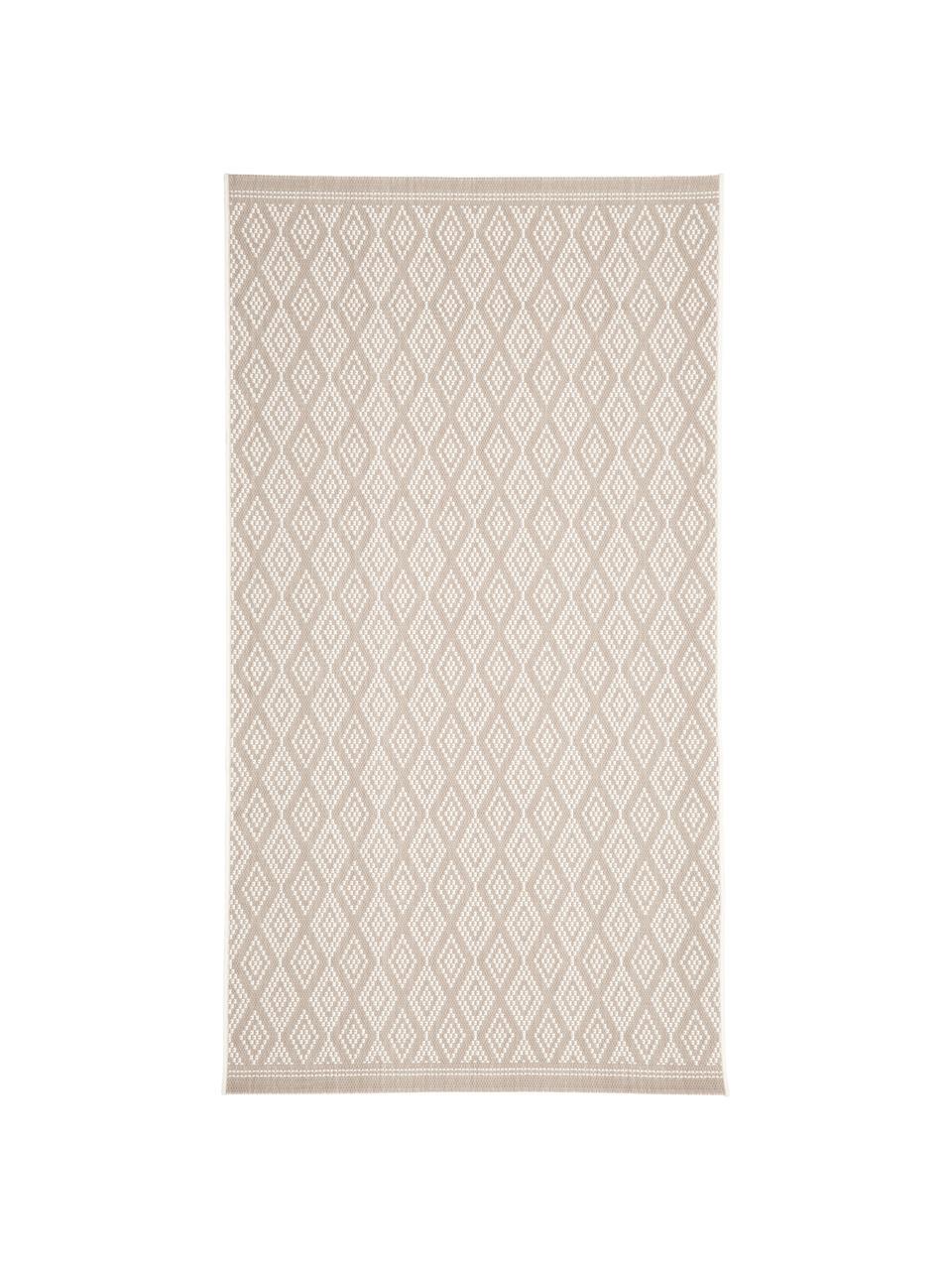 Tappeto beige/crema da interno-esterno Capri, 86% polipropilene, 14% poliestere, Bianco crema, beige, Larg. 200 x Lung. 290 cm (taglia L)