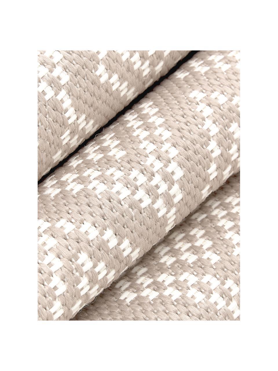 Dywan wewnętrzny/zewnętrzny Capri, 86% polipropylen, 14% poliester, Kremowobiały, beżowy, S 160 x D 230 cm (Rozmiar M)