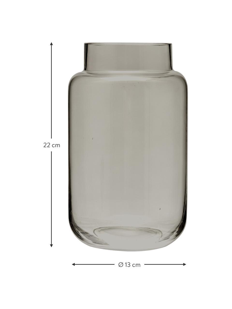 Vaso grande in vetro Lasse, Vetro, Grigio, trasparente, Ø 13 x Alt. 22 cm
