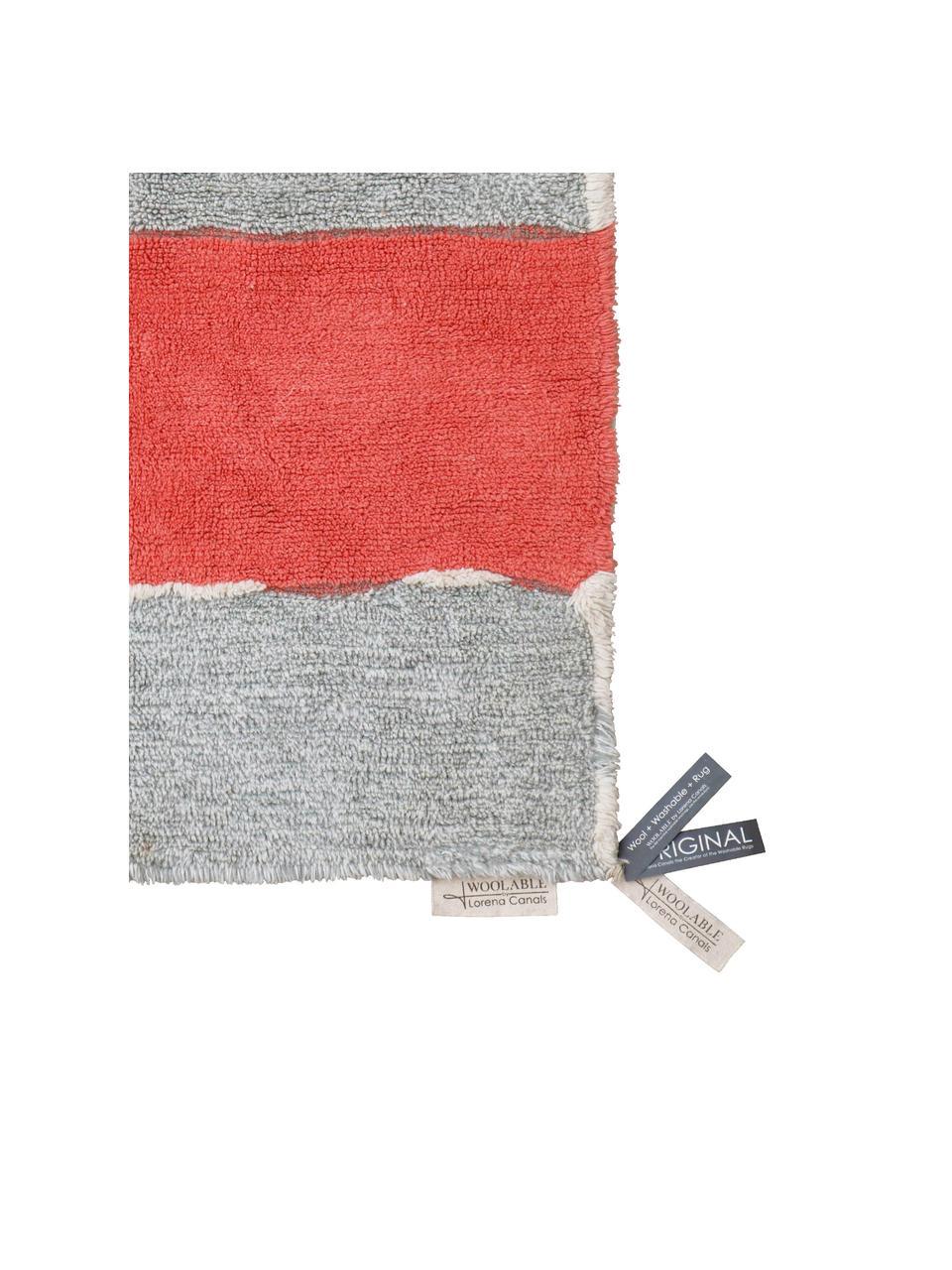 Großer Waschbarer Wollteppich Woolable Abstra mit buntem Muster, Flor: 100% Wolle, Mehrfarbig, B 170 x L 240 cm (Größe M)