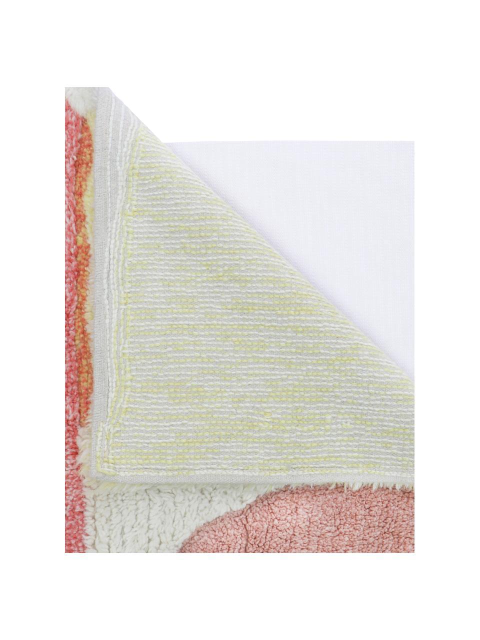 Tappeto in lana lavabile con motivo colorato Woolable Abstra, Retro: cotone riciclato Nel caso, Multicolore, Larg. 170 x Lung. 240 cm (taglia M)
