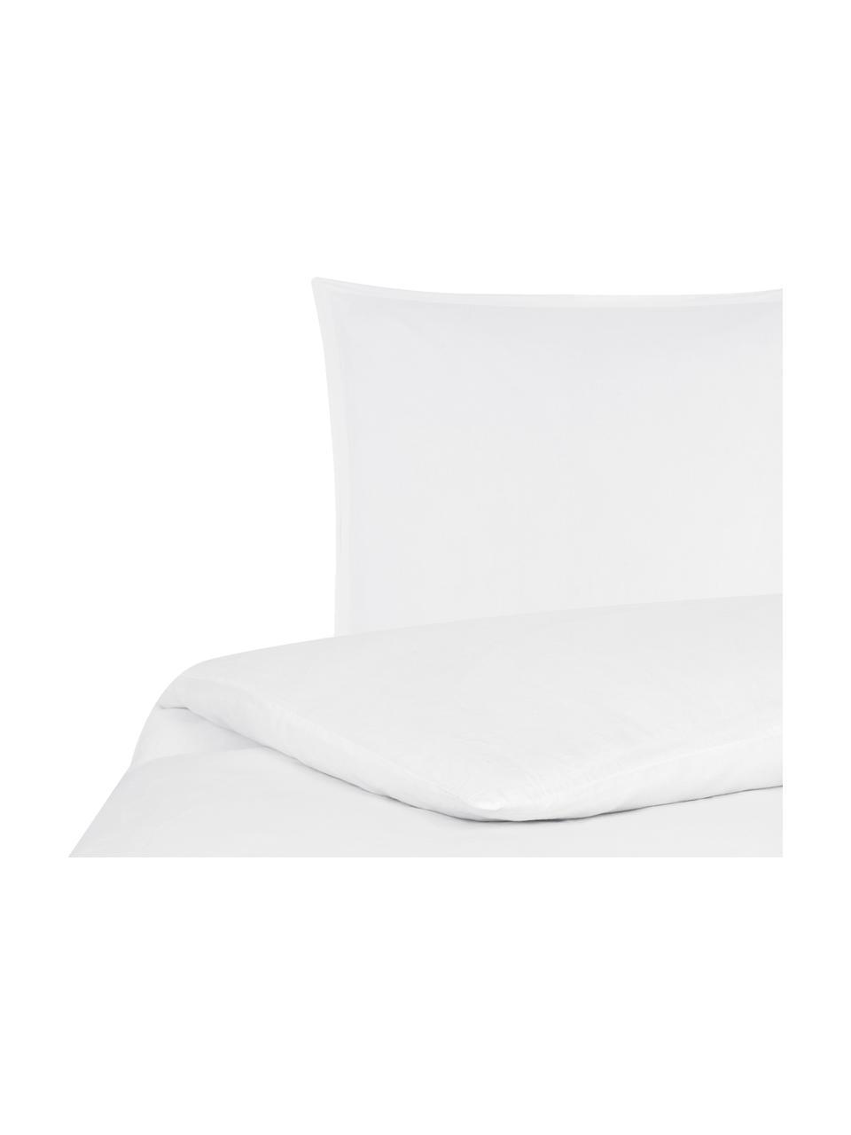 Pościel lniana z efektem sprania Nature, Biały, 135 x 200 cm + 1 poduszka 80 x 80 cm