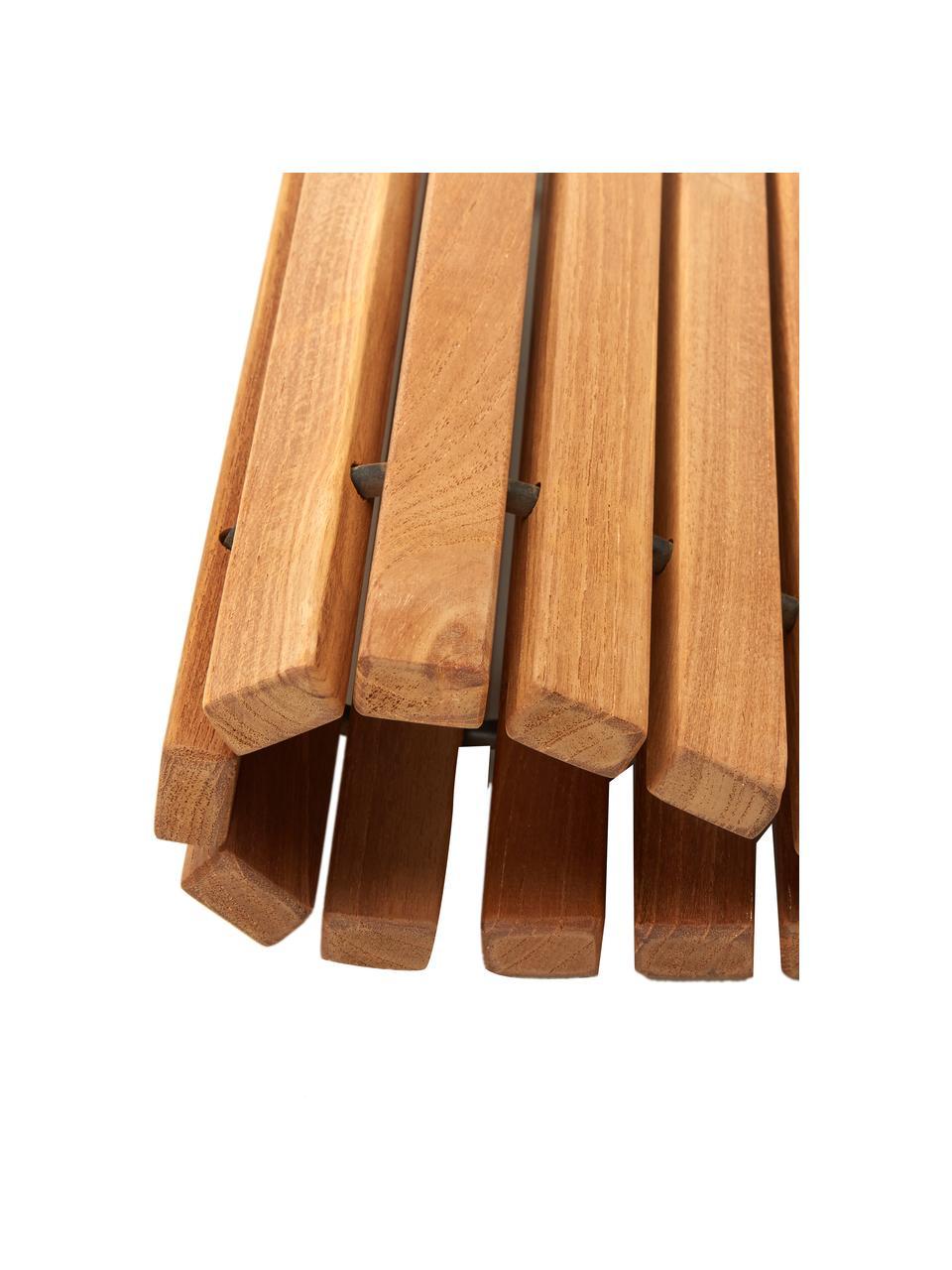 Tappeto bagno in legno di teak Anna, Marrone, Larg. 40 x Lung. 60 cm