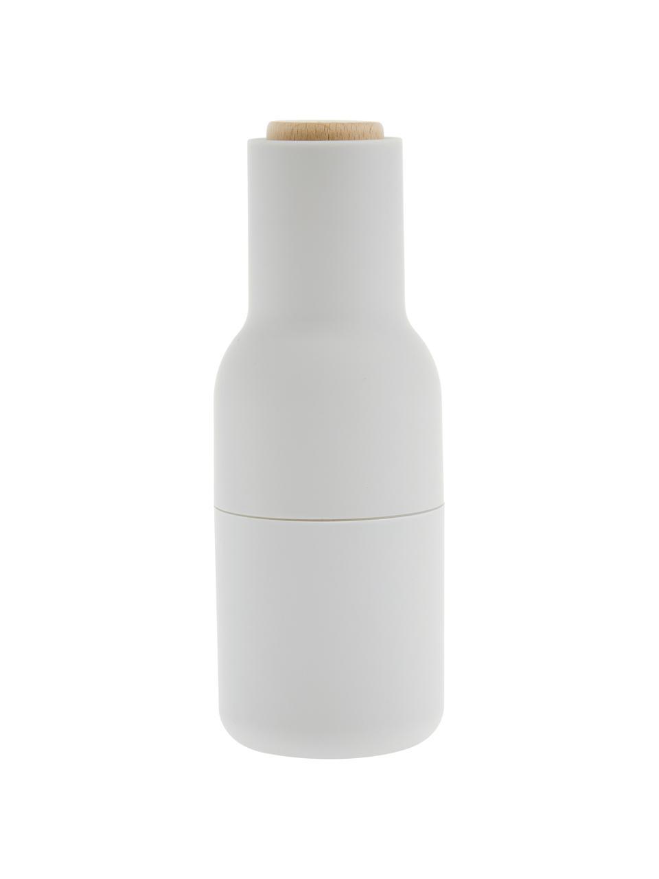 Set 2 macinaspezie Bottle Grinder, Struttura: materiale sintetico, Coperchio: legno, Antracite, grigio chiaro, marrone, Ø 8 x Alt. 21 cm