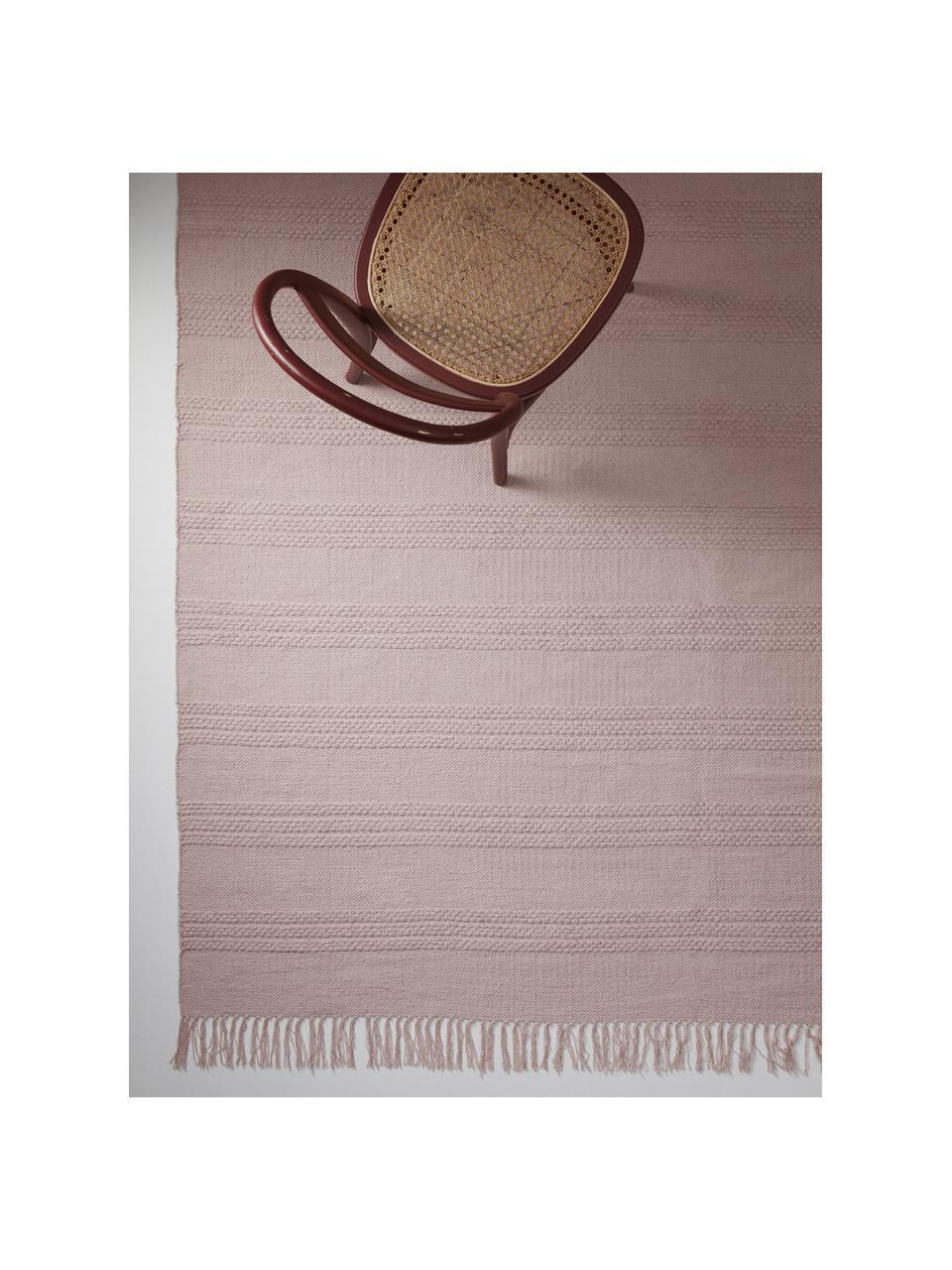 Dywan z bawełny Tarnya, 100% bawełna, Blady różowy, S 200 x D 300 cm (Rozmiar L)
