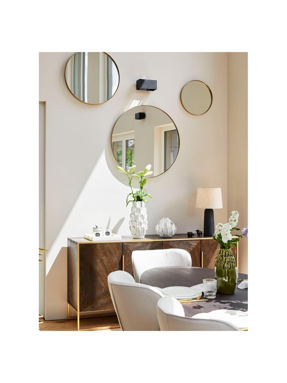 Sada nástěnných zrcadel Ivy, Kartáčovaná mosazná