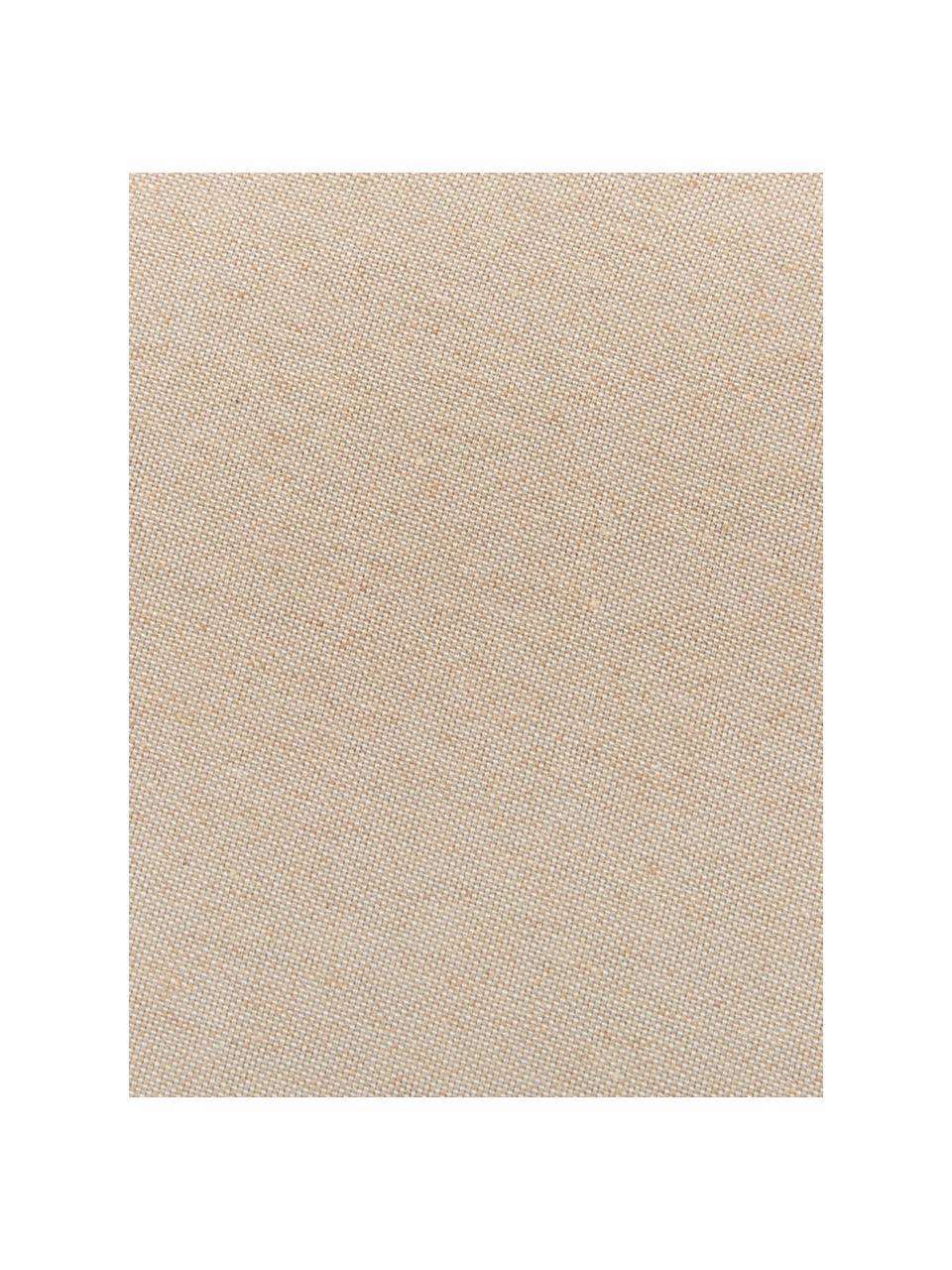 Einfarbige Bankauflage Panama in Sandfarben, Bezug: 50% Baumwolle, 45% Polyes, Sandfarben, 48 x 120 cm