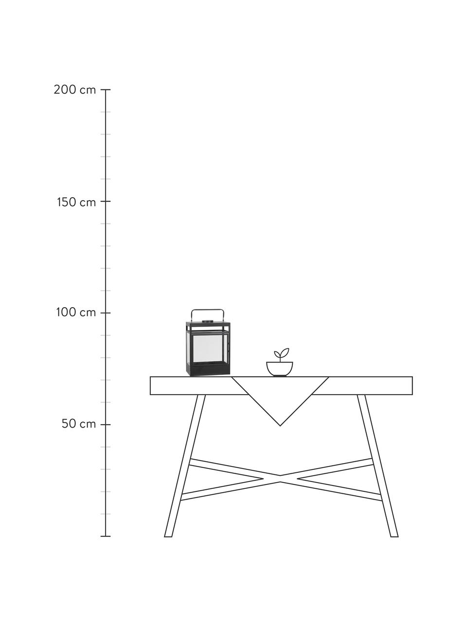 Lanterna portatile a LED a batteria Flint, Struttura: metallo rivestito, Nero, Larg. 38 x Alt. 18 cm
