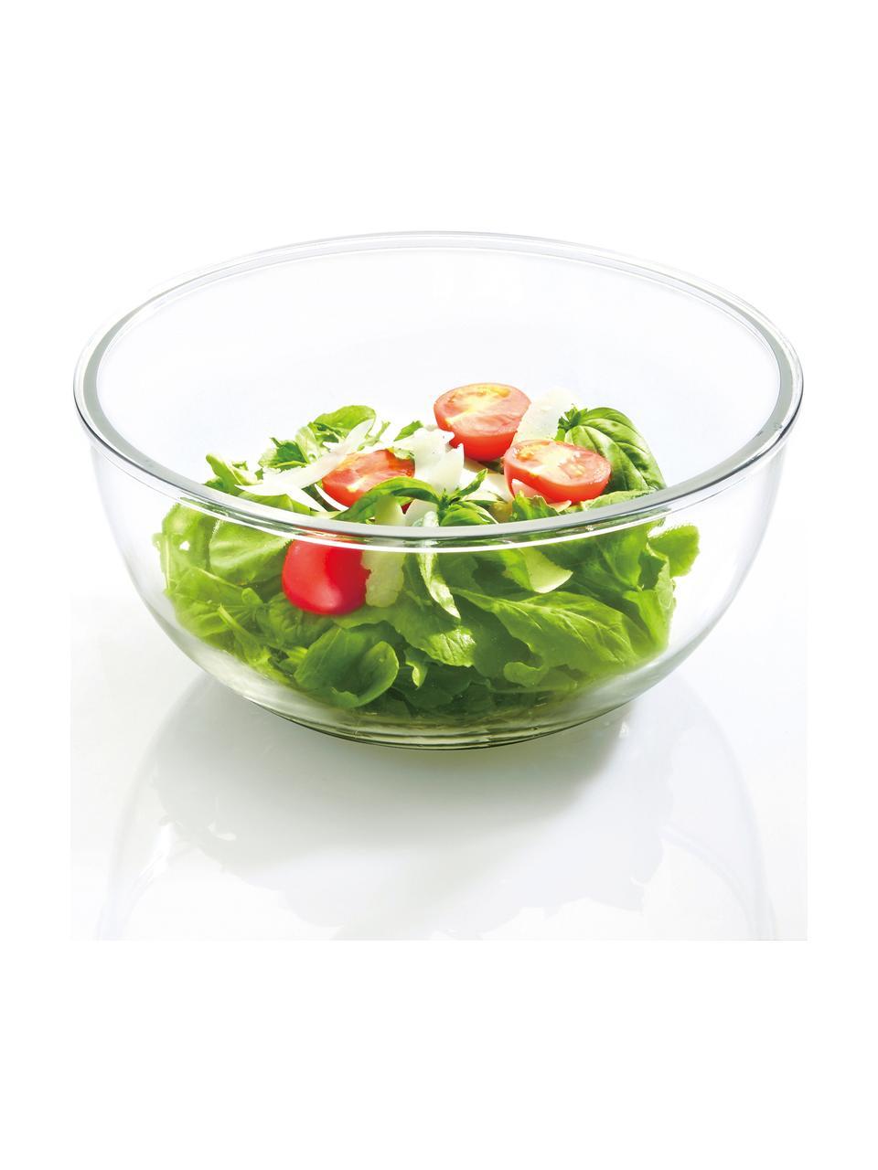 Set 2 contenitori per insalata Lilo, Contenitore: vetro temperato, privo di, Trasparente, rosa, Set in varie misure