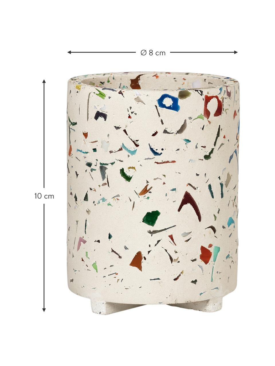 Stiftehalter Razzo, Steingut, Beige, Mehrfarbig, Ø 8 x H 10 cm