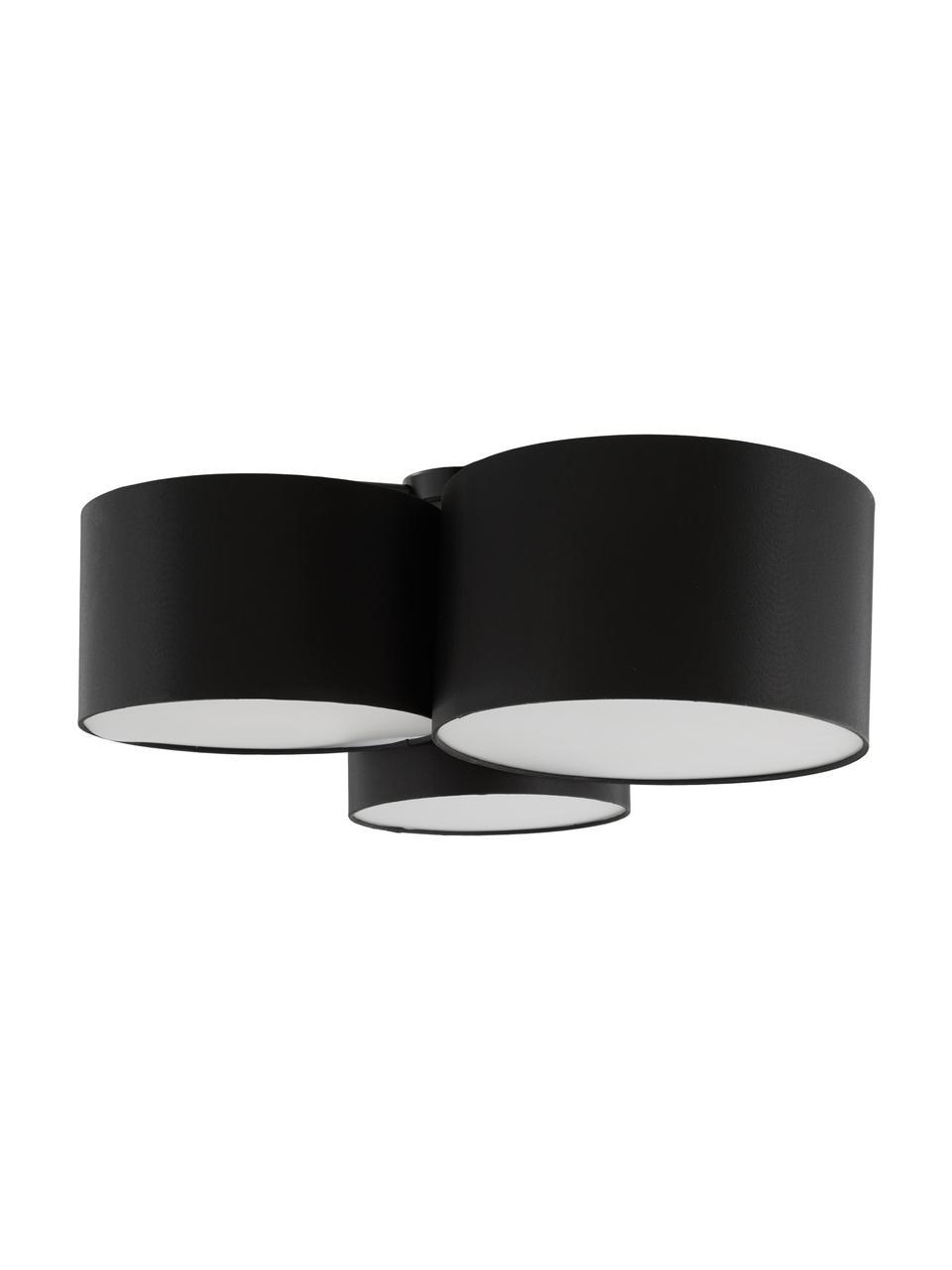 Duża lampa sufitowa Luke, Czarny, Ø 61 x W 26 cm