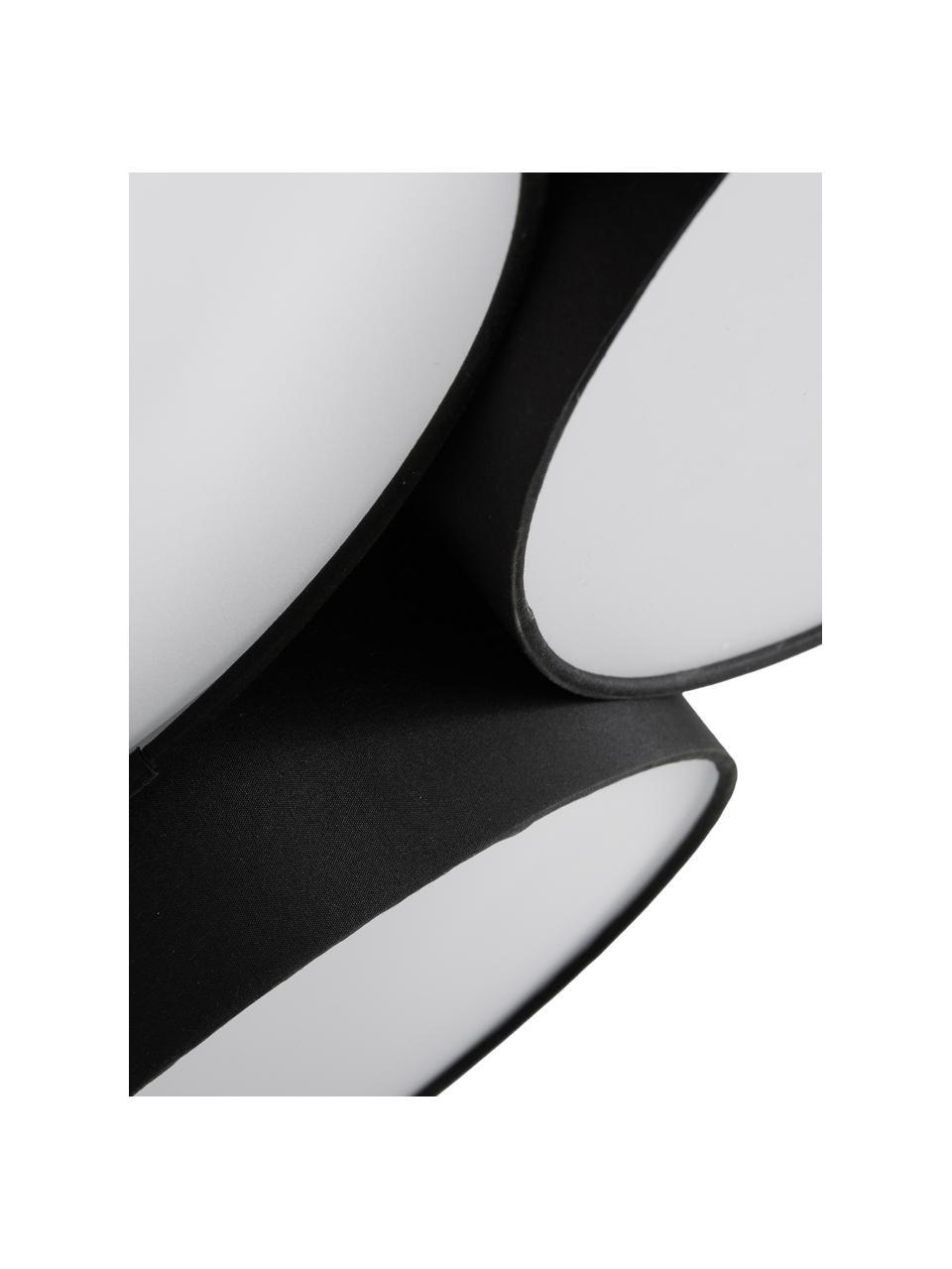 Plafoniera grande Luke, Baldacchino: metallo, verniciato a pol, Paralume: tessuto, Nero, Ø 61 x Alt. 26 cm