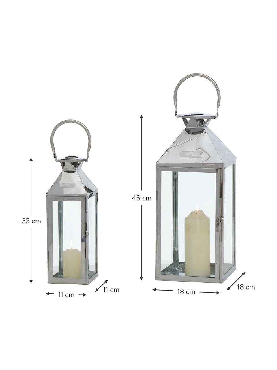 Súprava lampášov Jason, 2 diely, Nehrdzavejúca oceľ