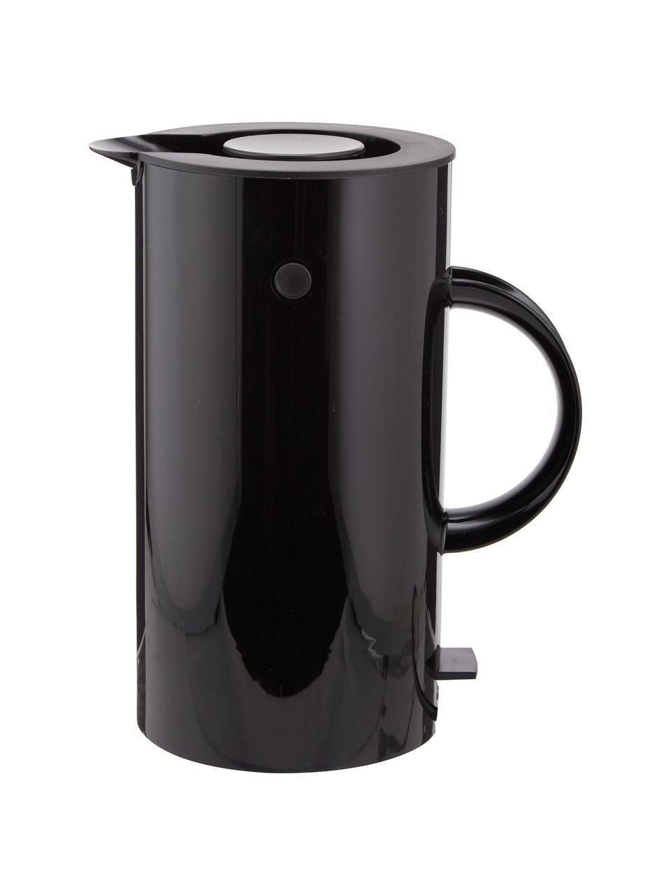 Wasserkocher EM77 in Schwarz glänzend, 1.5 L, Korpus: Edelstahl, Beschichtung: Emaille, Schwarz, 1,5 L