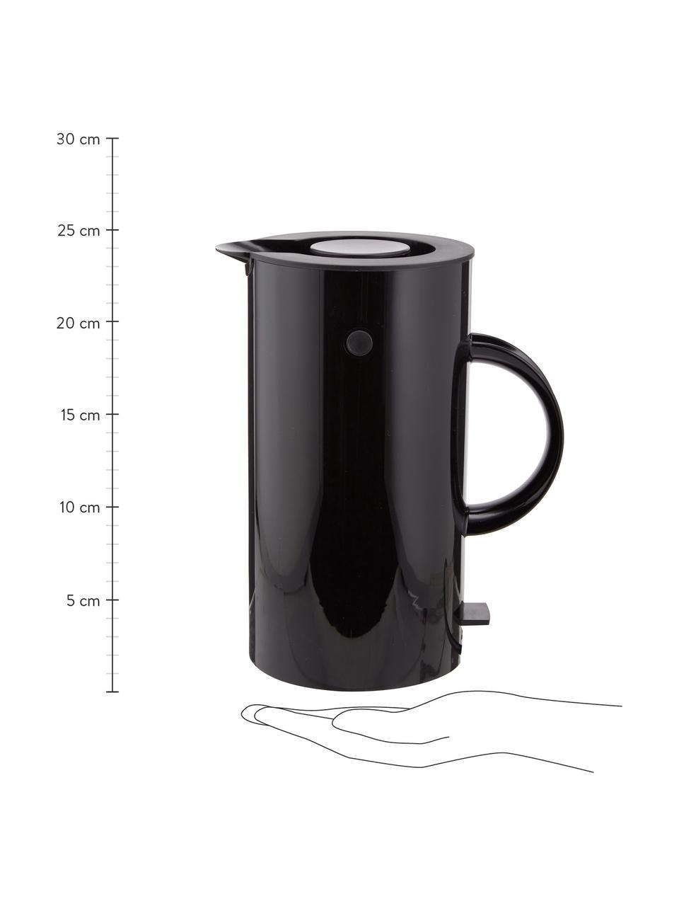 Bollitore elettrico in nero lucido EM77, Nero, 1,5 L