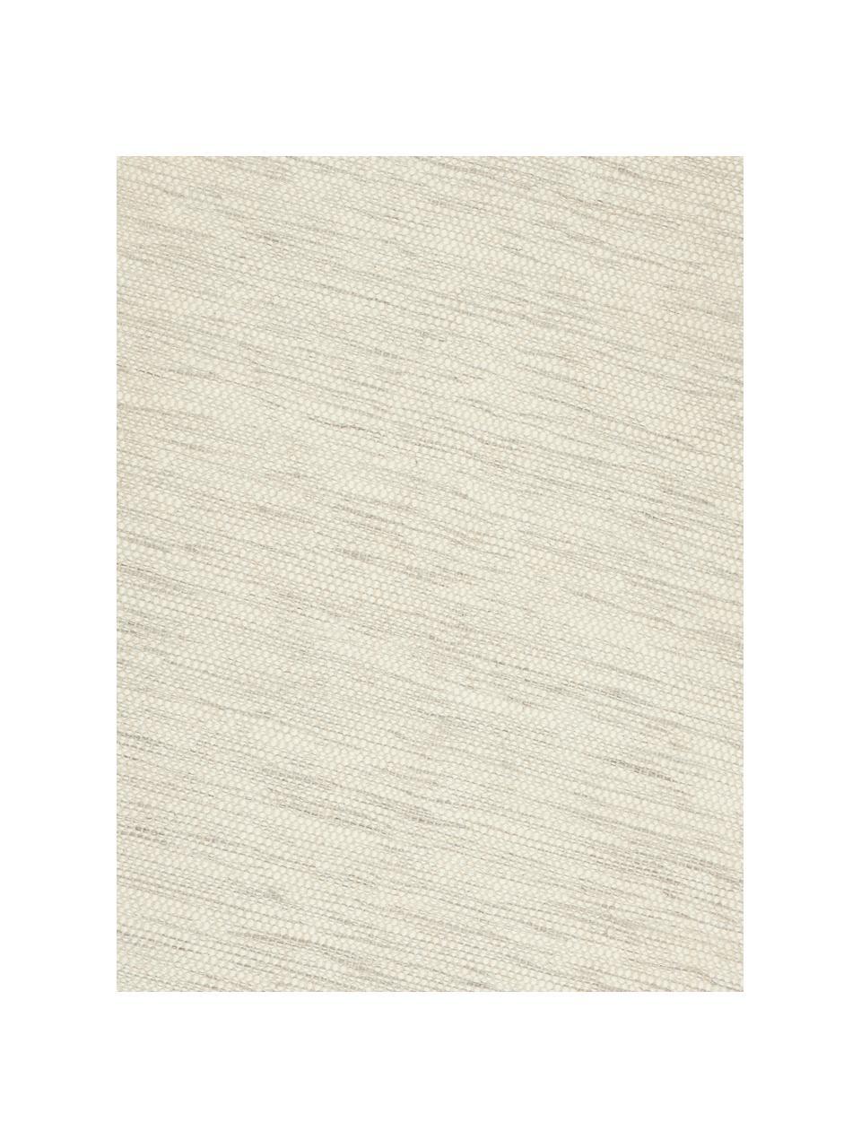 Tappeto in lana tessuto a mano color crema/grigio chiaro maculato Asko, Retro: cotone Nel caso dei tappe, Beige, Larg. 200 x Lung. 300 cm (taglia L)