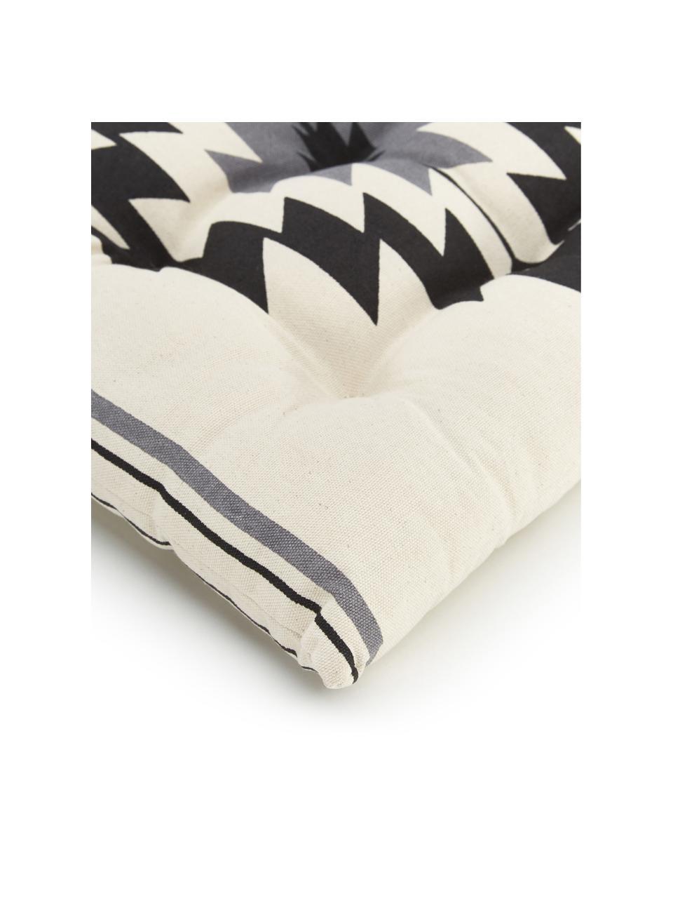 Poduszka na krzesło Luca, Czarny, szary, biały, S 40 x D 40 cm