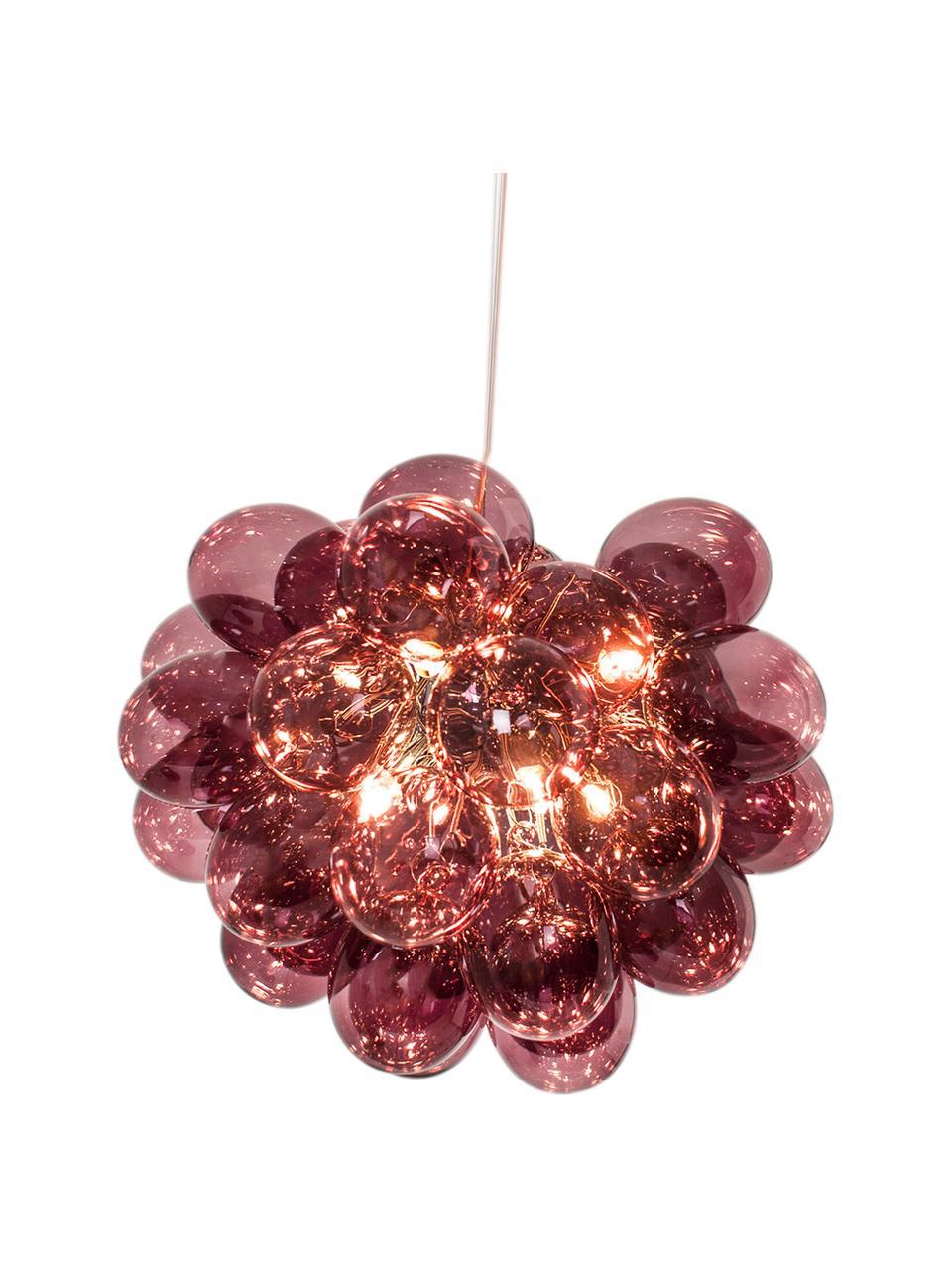 Lampa wisząca Gross, Burgundowy, Ø 50 x W 40 cm