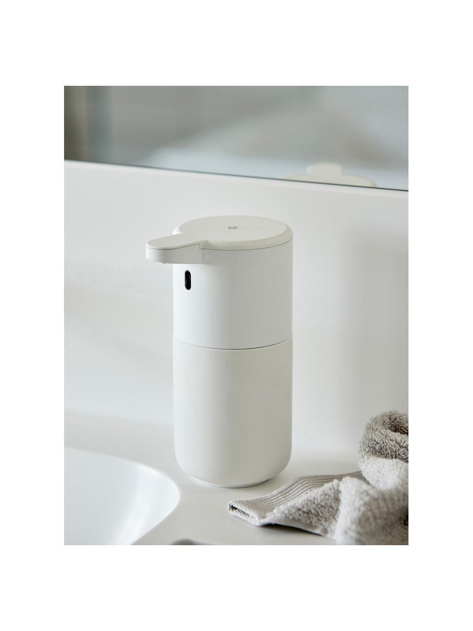Seifenspender Ume aus Steingut mit Sensor, Steingut, Weiß, Ø 12 x H 17 cm