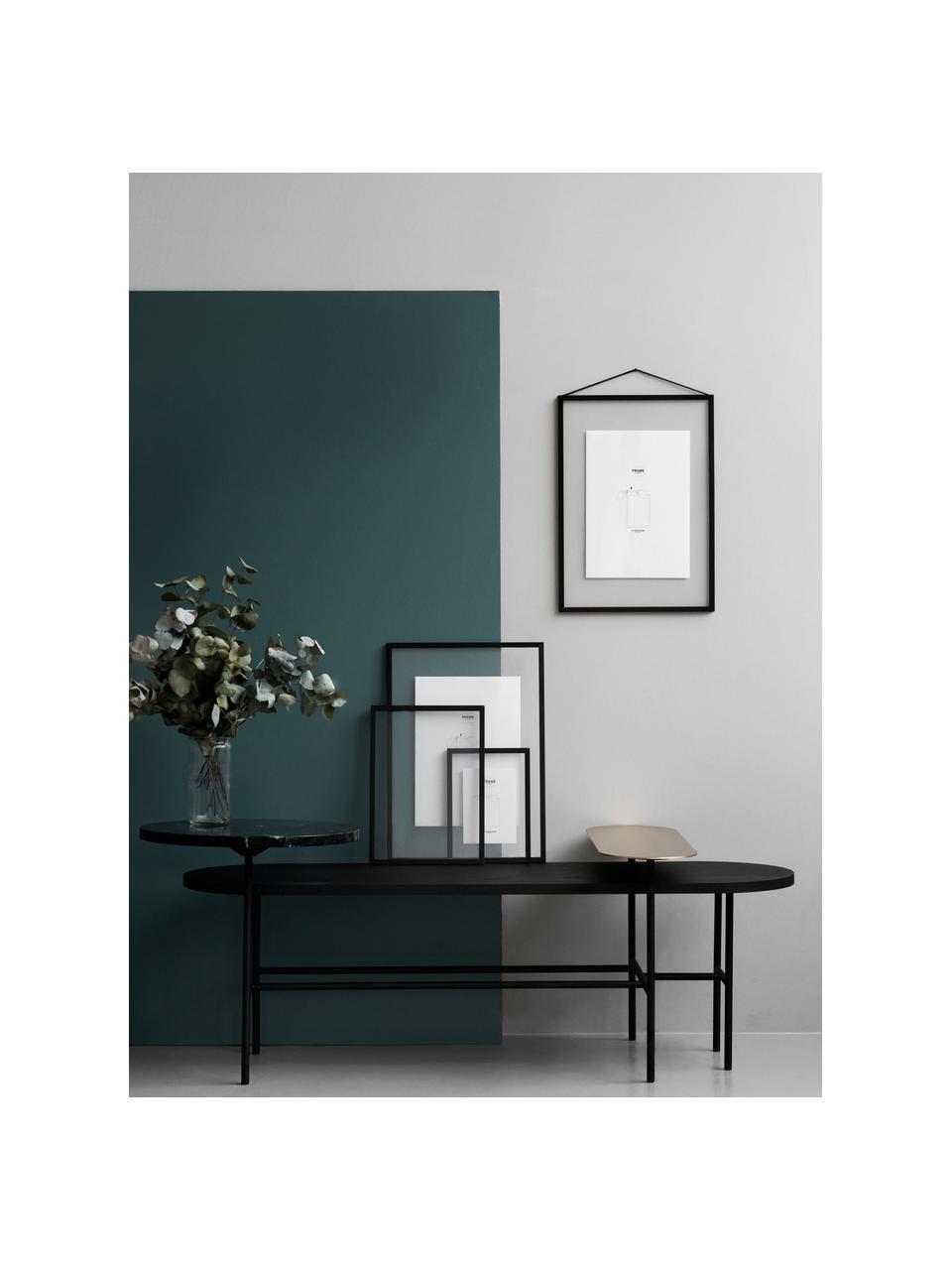 Cadre Frame, Cadre: noir Suspension: noir Vitrage et envers: transparent