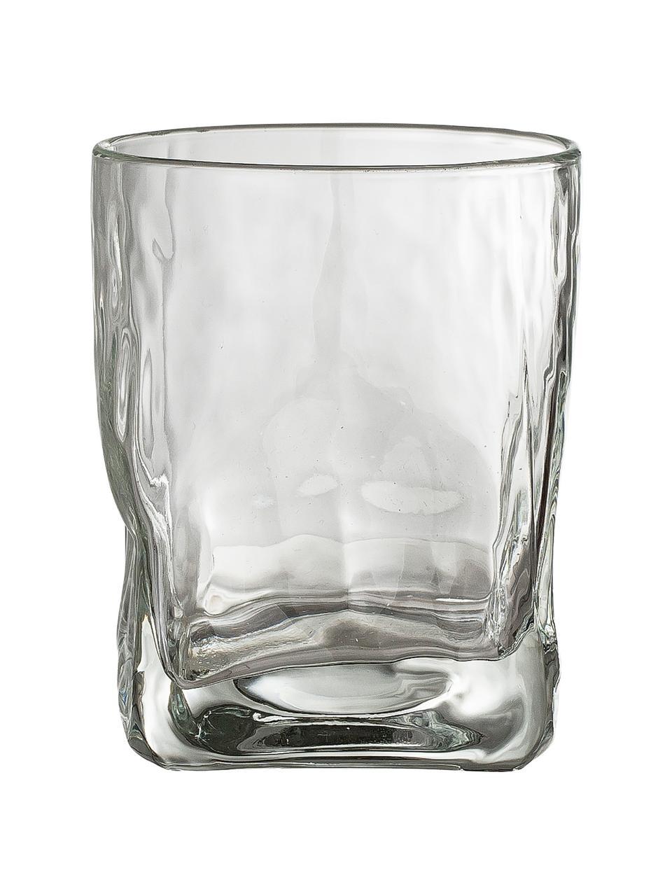 Vasos old fashioned irregulares Zera, 6 uds., Vidrio, Transparente, Ø 8 x Al 10 cm
