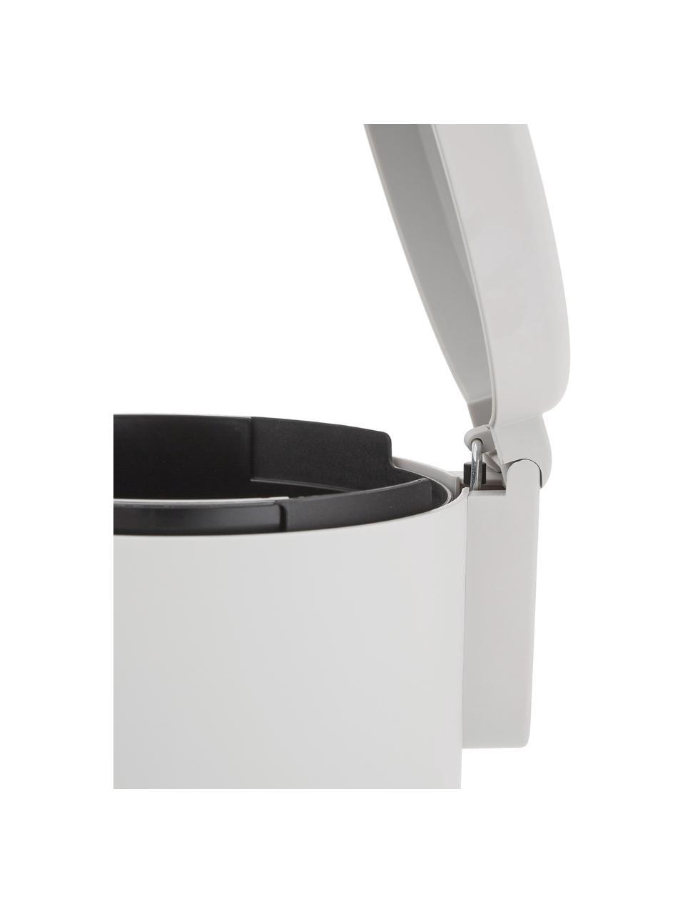 Kosz na śmieci z funkcją pedału Ume, Tworzywo sztuczne (ABS), Jasny szary, Ø 20 x W 22 cm