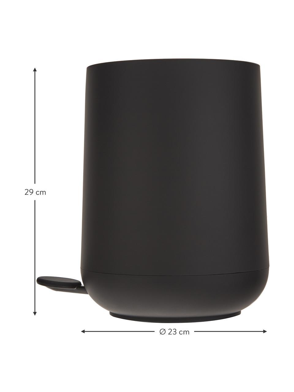 Pattumiera con coperchio softmotion Nova, Materiale sintetico ABS, Nero, Ø 23 x Alt. 29 cm