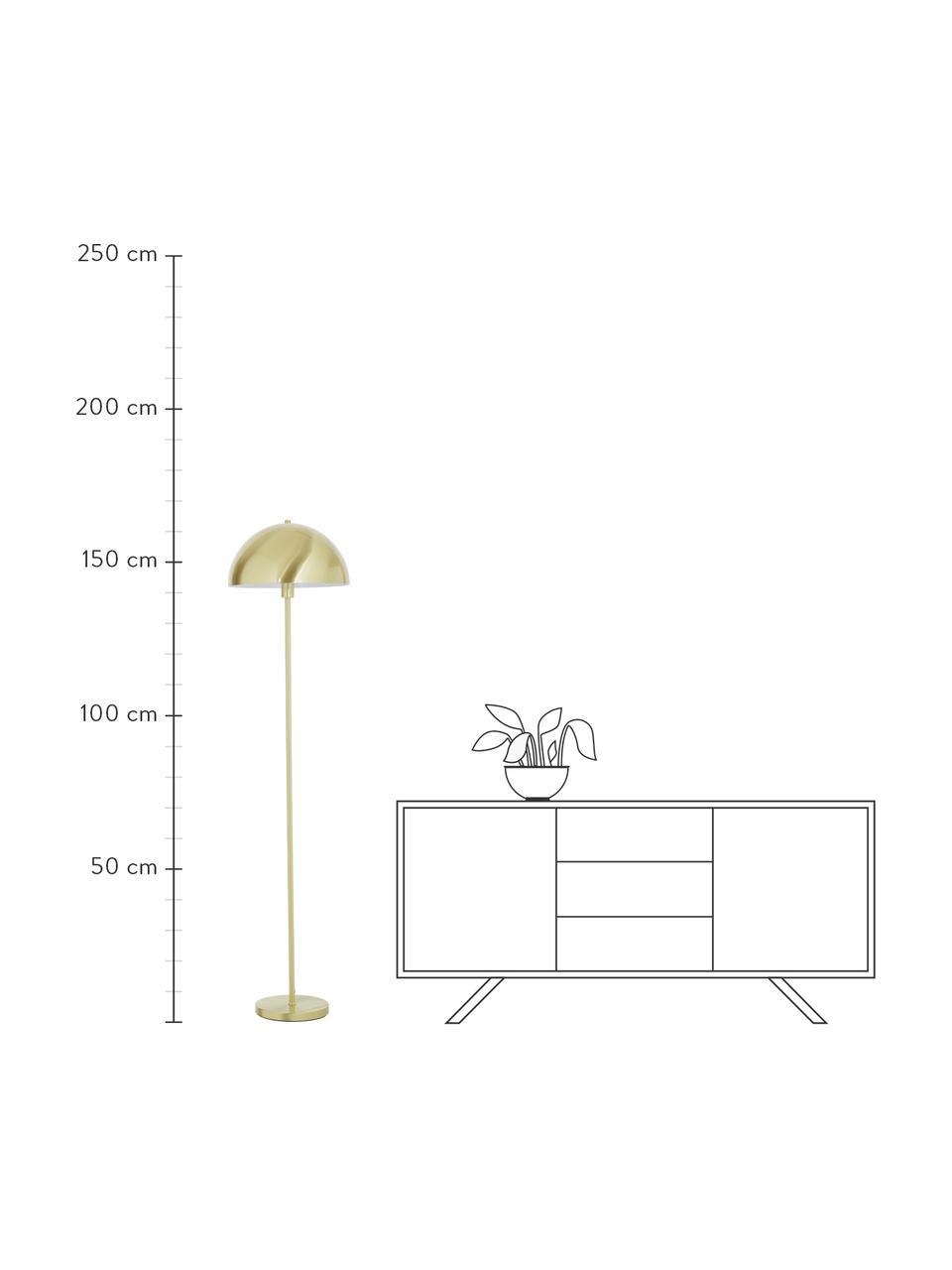 Lampa podłogowa Matilda, Odcienie mosiądzu, Ø 40 x W 164 cm