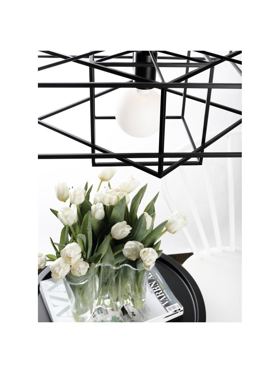 Plafonnier en métal noir Cube, Noir