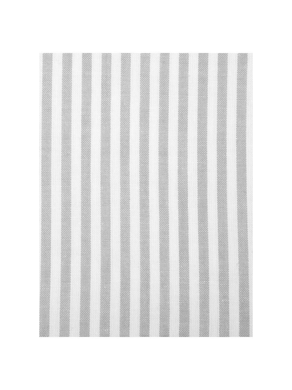Parure copripiumino in cotone ranforce Ellie, Bianco, grigio, 155 x 200 cm