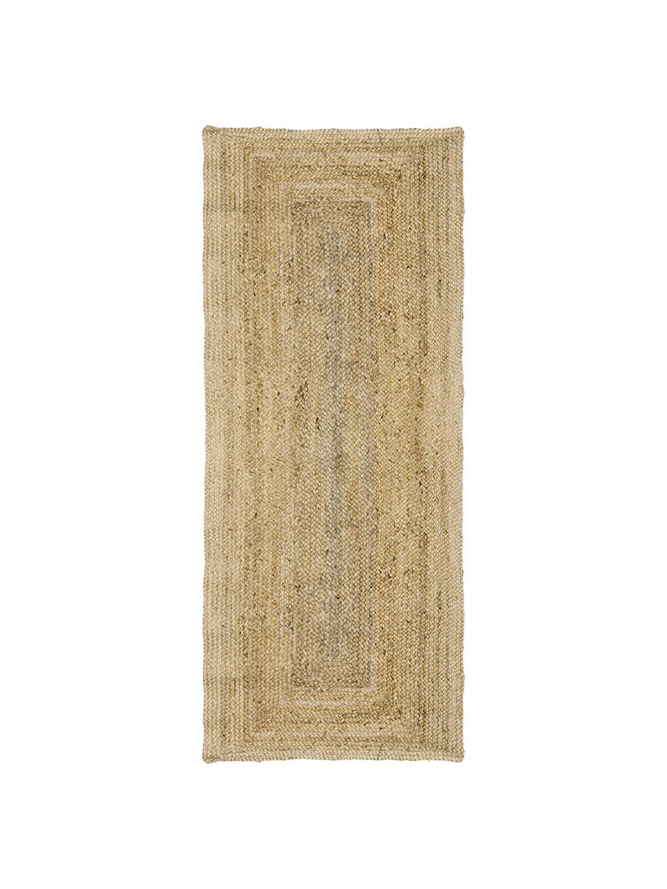 Handgefertigter Jute-Läufer Sharmila, 100% Jute, Beige, 80 x 250 cm