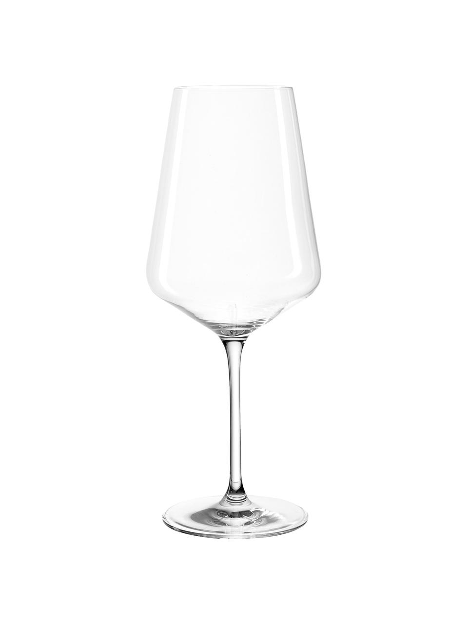 Set 6 bicchieri vino rosso Puccini, Vetro di cristallo, Trasparente, Ø 11 x Alt. 26 cm