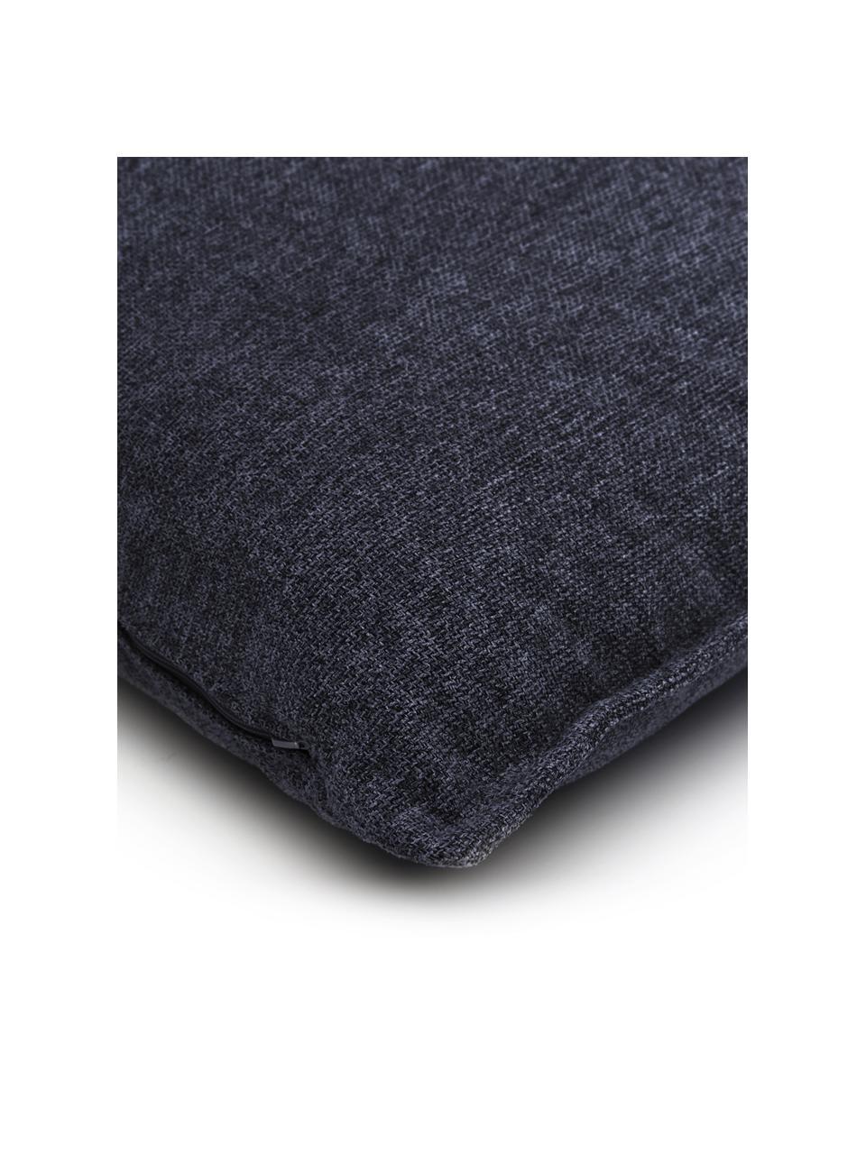 Sofa-Kissen Lennon in Dunkelblau, Bezug: 100% Polyester, Webstoff Blau, 60 x 60 cm