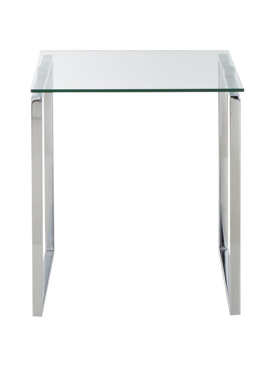 Tables gigognes verre Katrine, 3élém., Chrome, transparent